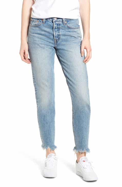 Levi's® Wedgie Icon Fit Raw Hem Jeans (Shut Up)