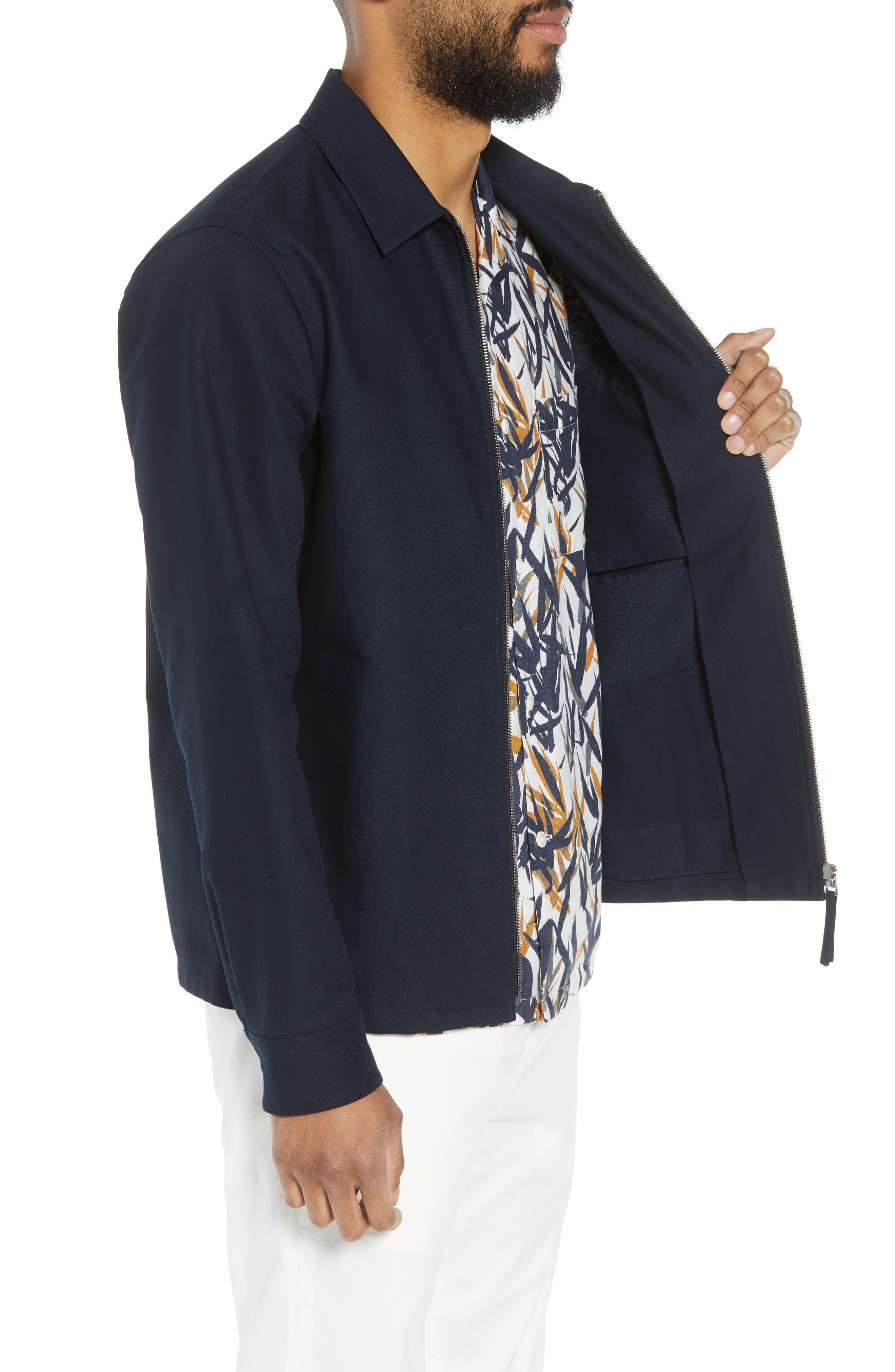 Rye Stretch Cotton Jacket,                             Alternate thumbnail 4, color,                             Eclipse
