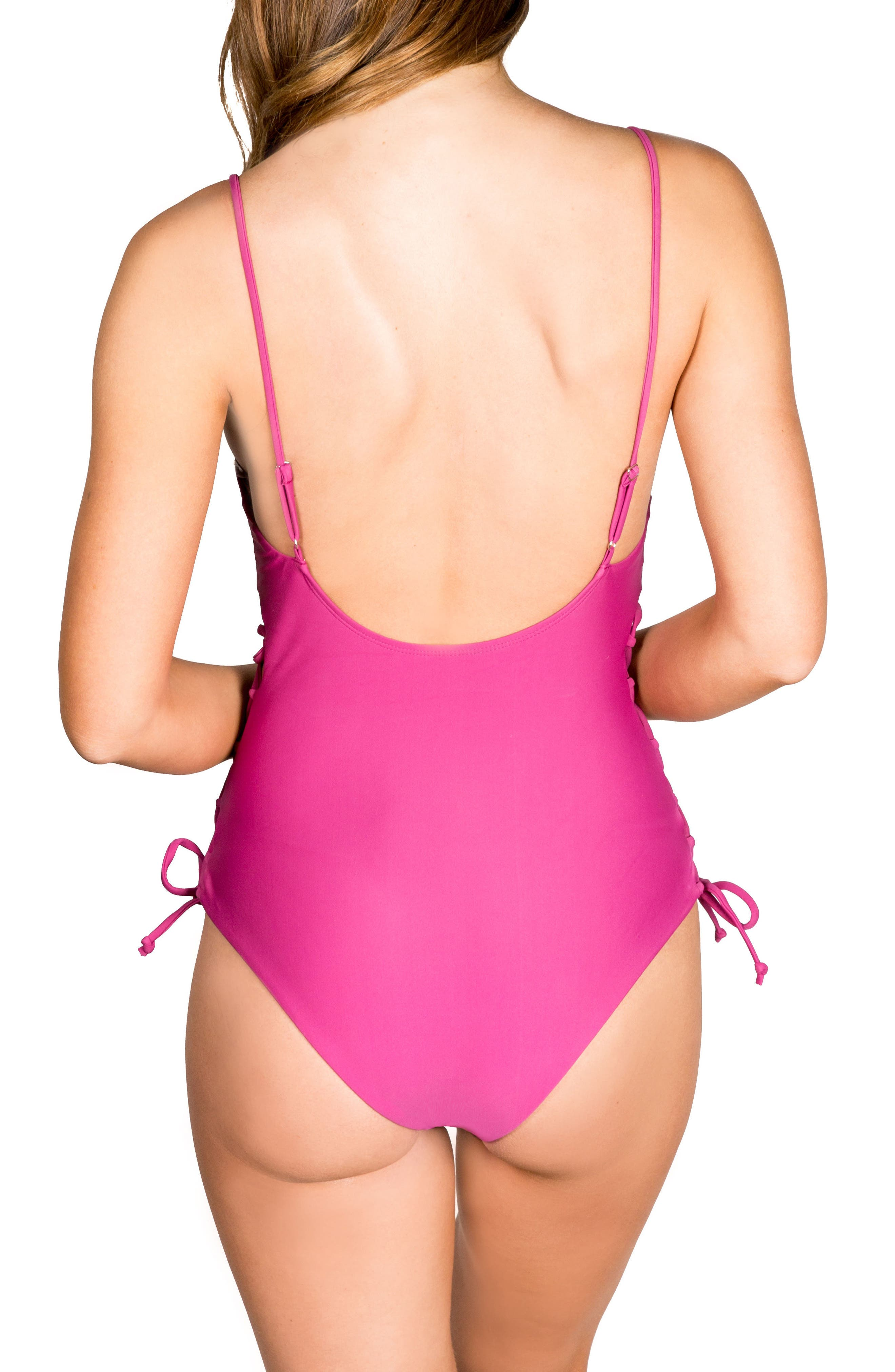 Nora One-Piece Swimsuit,                             Alternate thumbnail 2, color,                             Dawn Berry