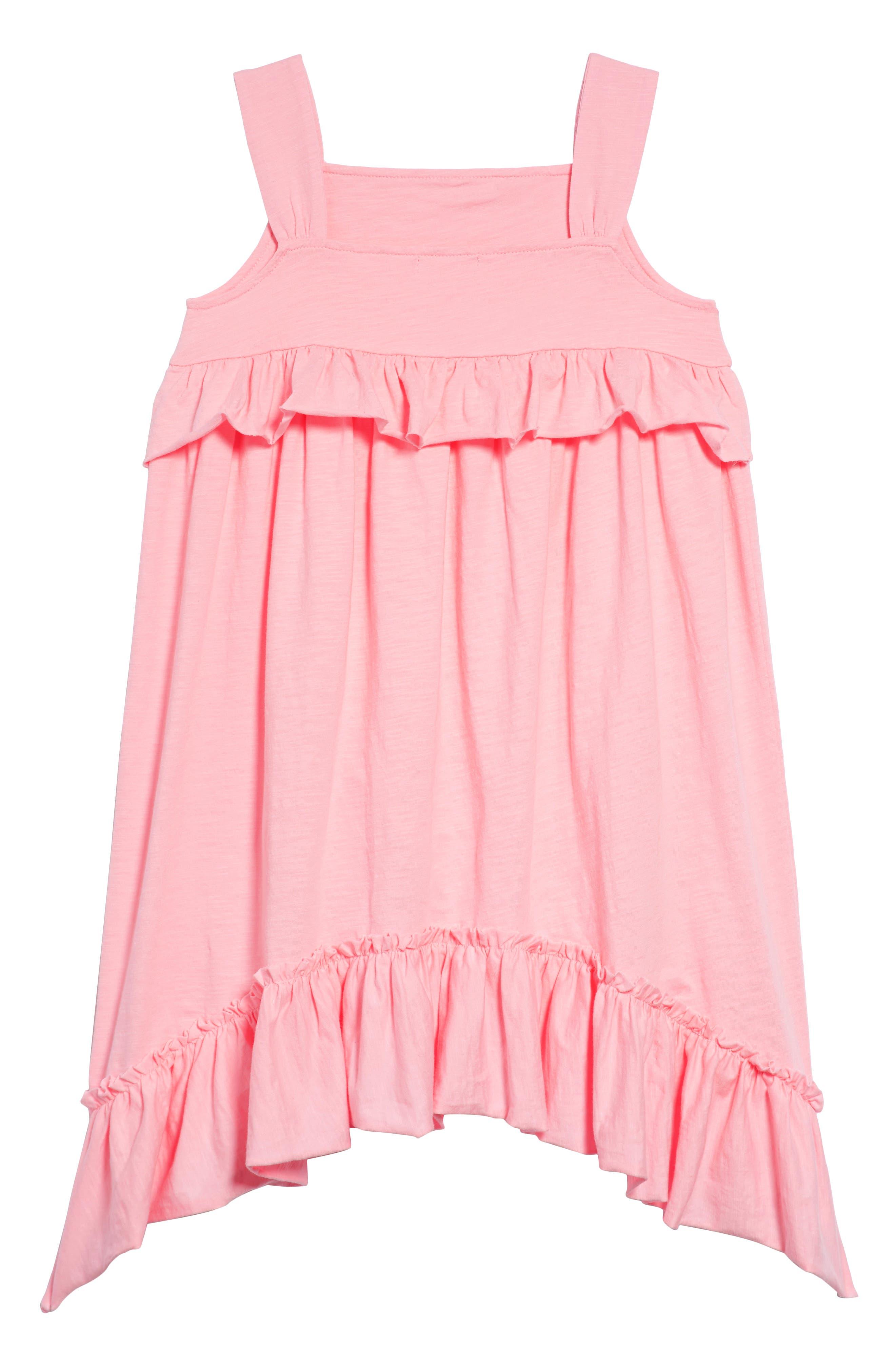 Mimi Ruffle Dress,                             Alternate thumbnail 3, color,                             Neon Petal Pk-5038