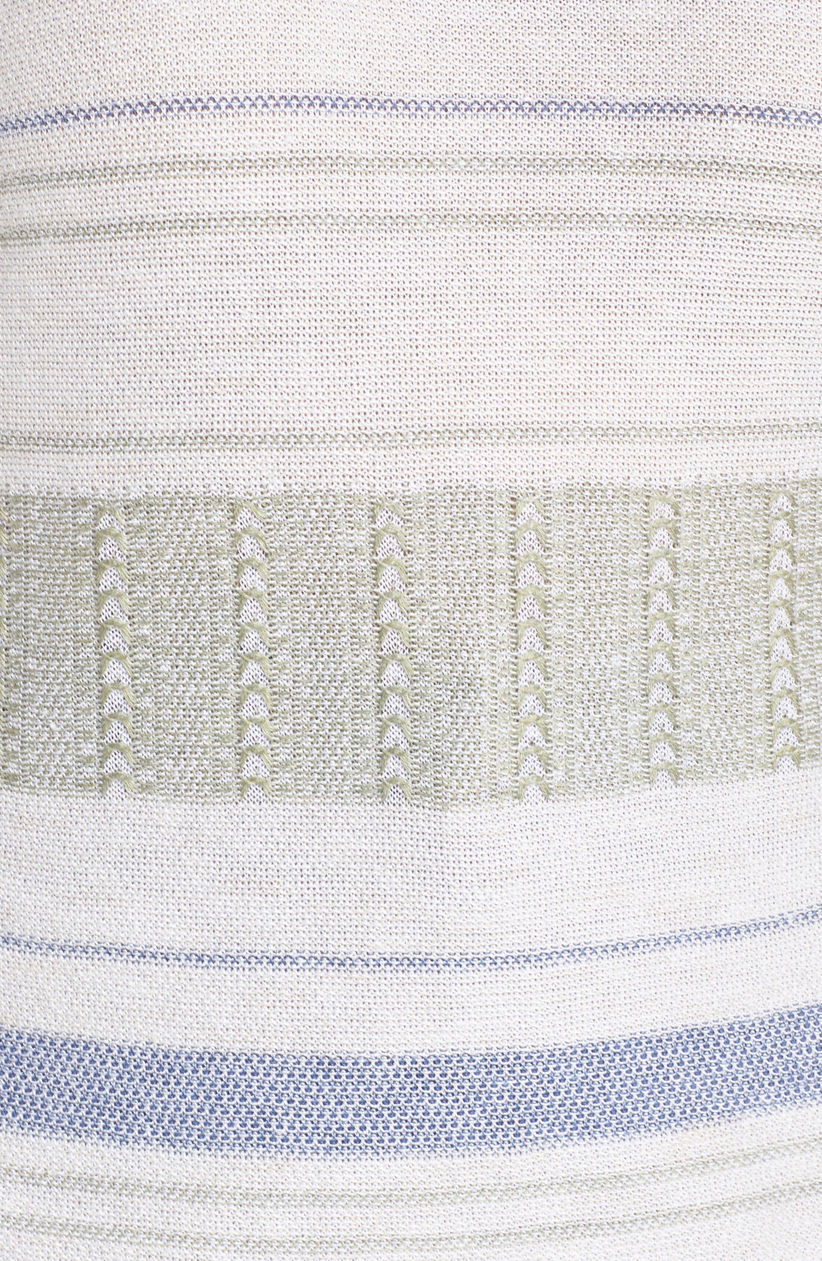Juniper Fringe Stripe Linen Blend Sweater,                             Alternate thumbnail 6, color,                             Multi