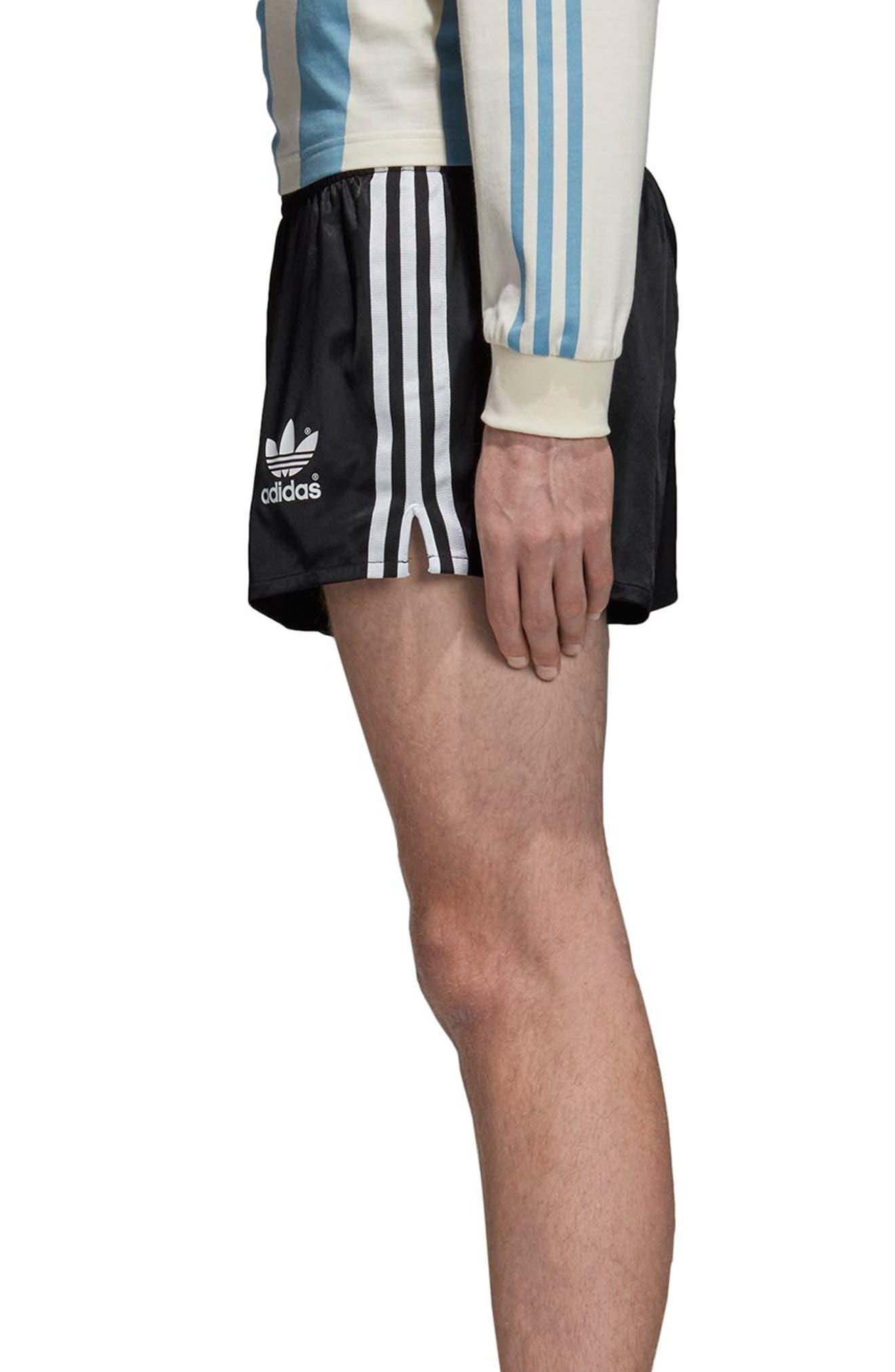 adidas Original Argentina 1987 Shorts,                             Alternate thumbnail 3, color,                             Black
