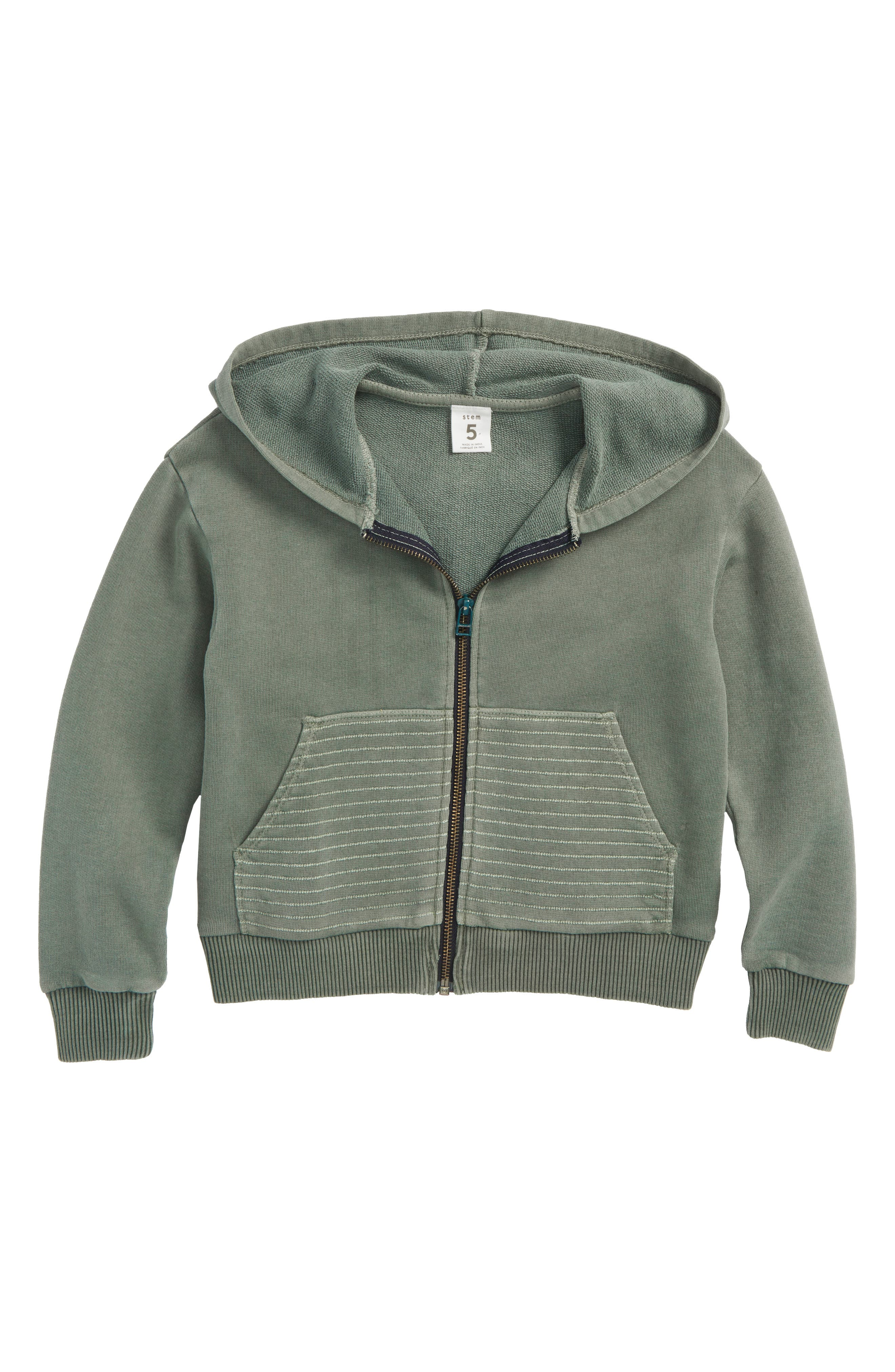 Sun Faded Full Zip Hoodie,                         Main,                         color, Green Agave