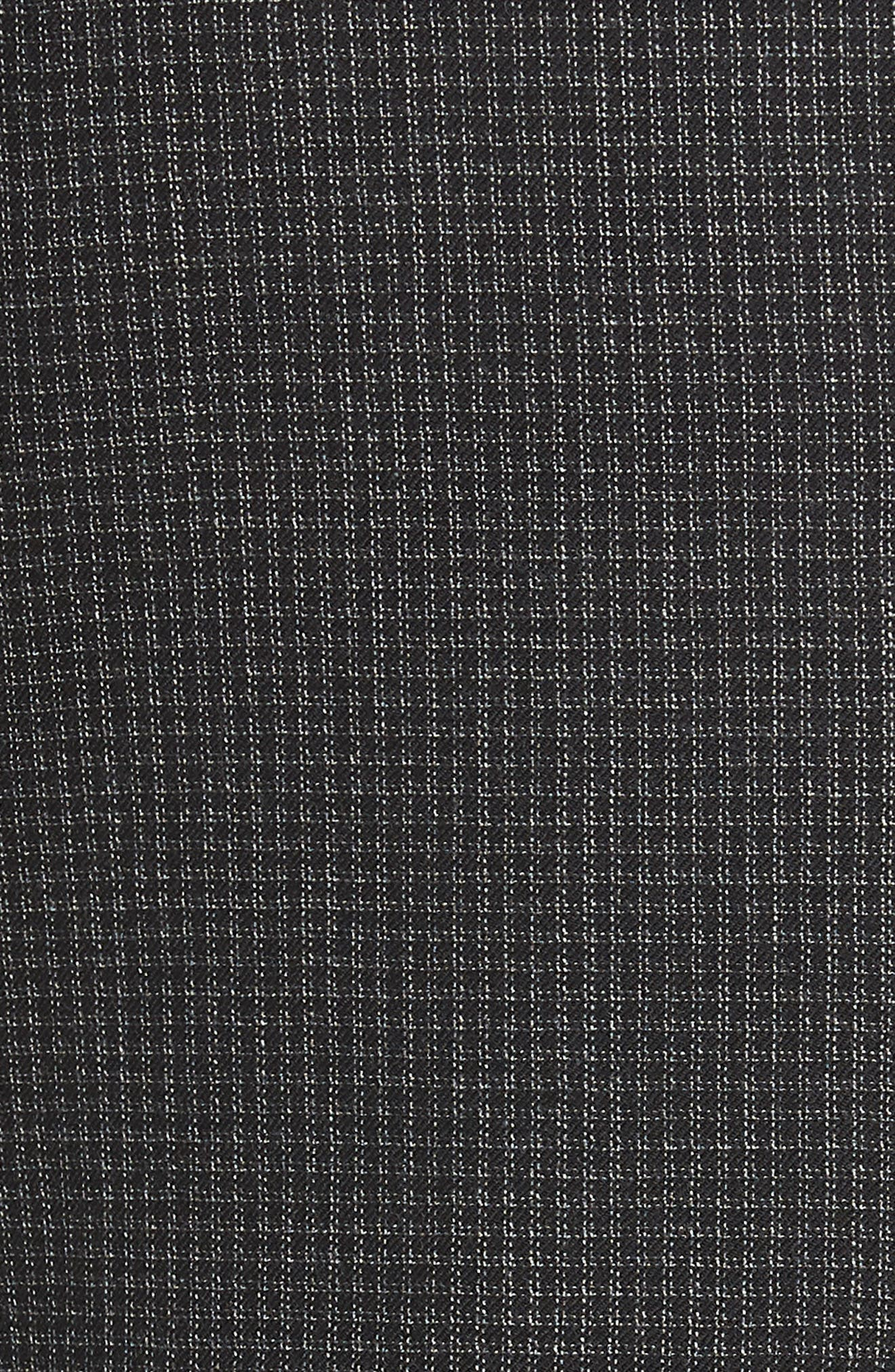 Traditional Fit Microcheck Wool Sport Coat,                             Alternate thumbnail 4, color,                             Black
