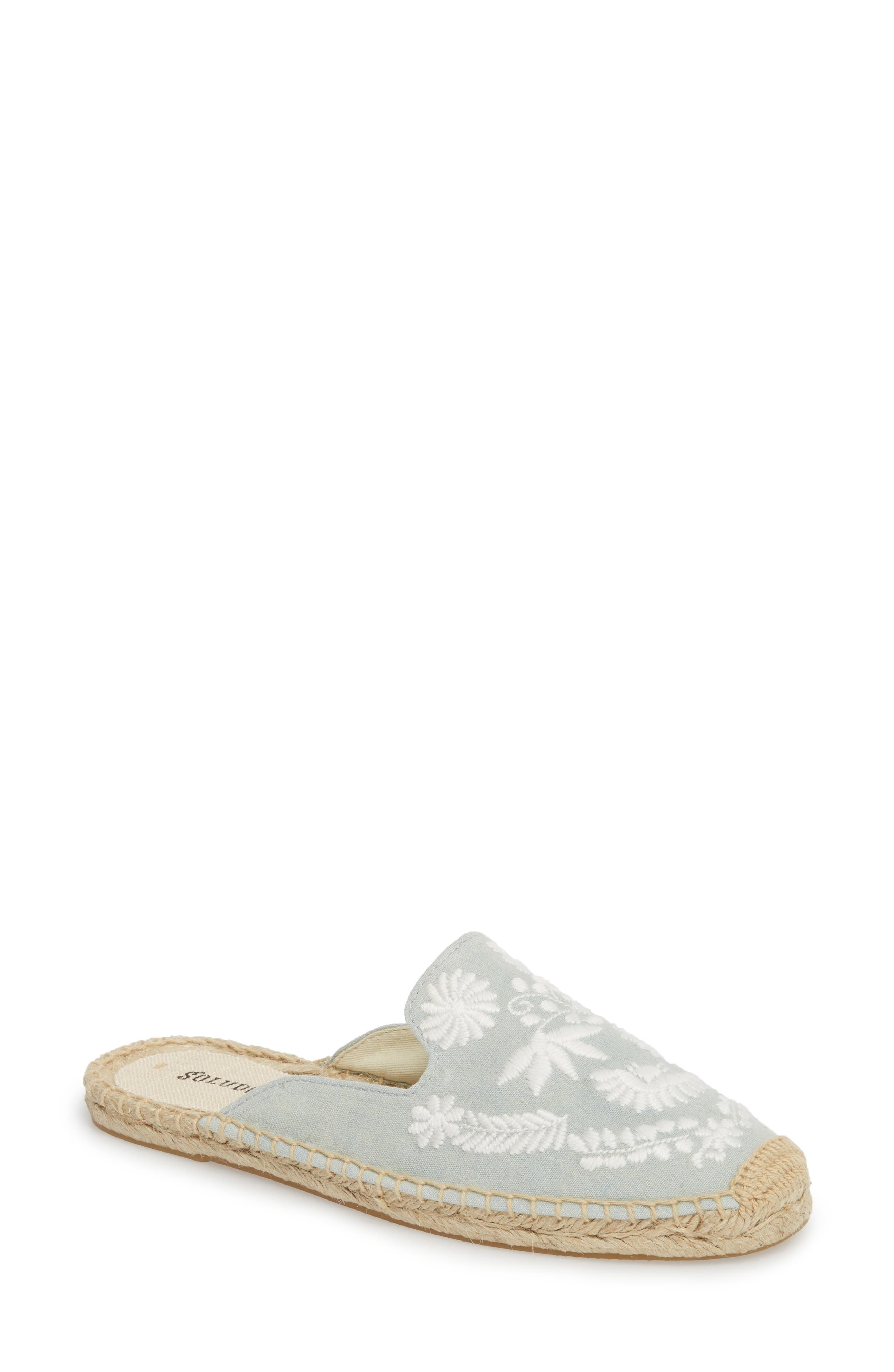 SOLUDOS IBIZA EMBROIDERED ESPADRILLE LOAFER MULE
