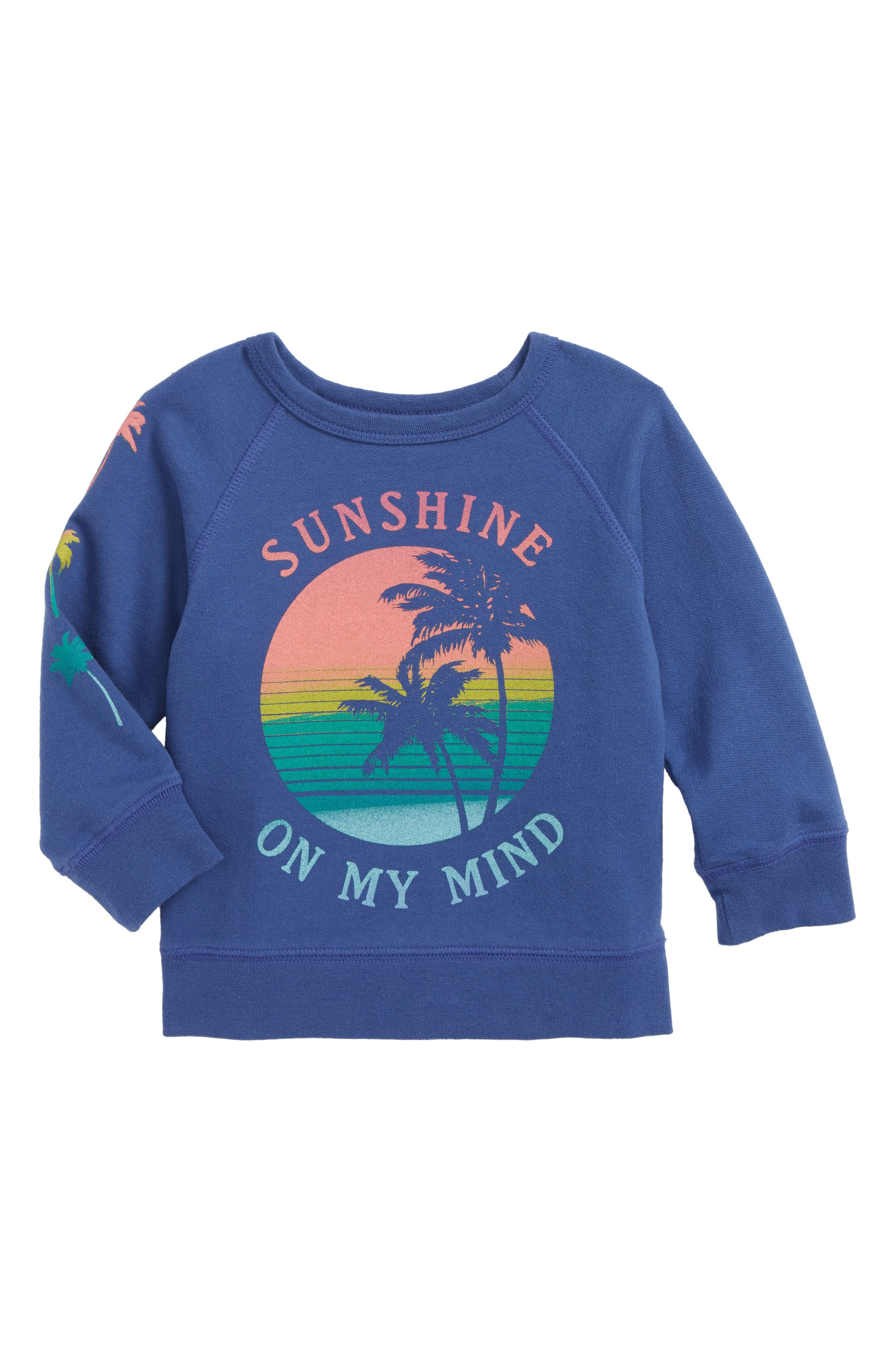 Sunshine On My Mind Graphic Tee,                         Main,                         color, Navy