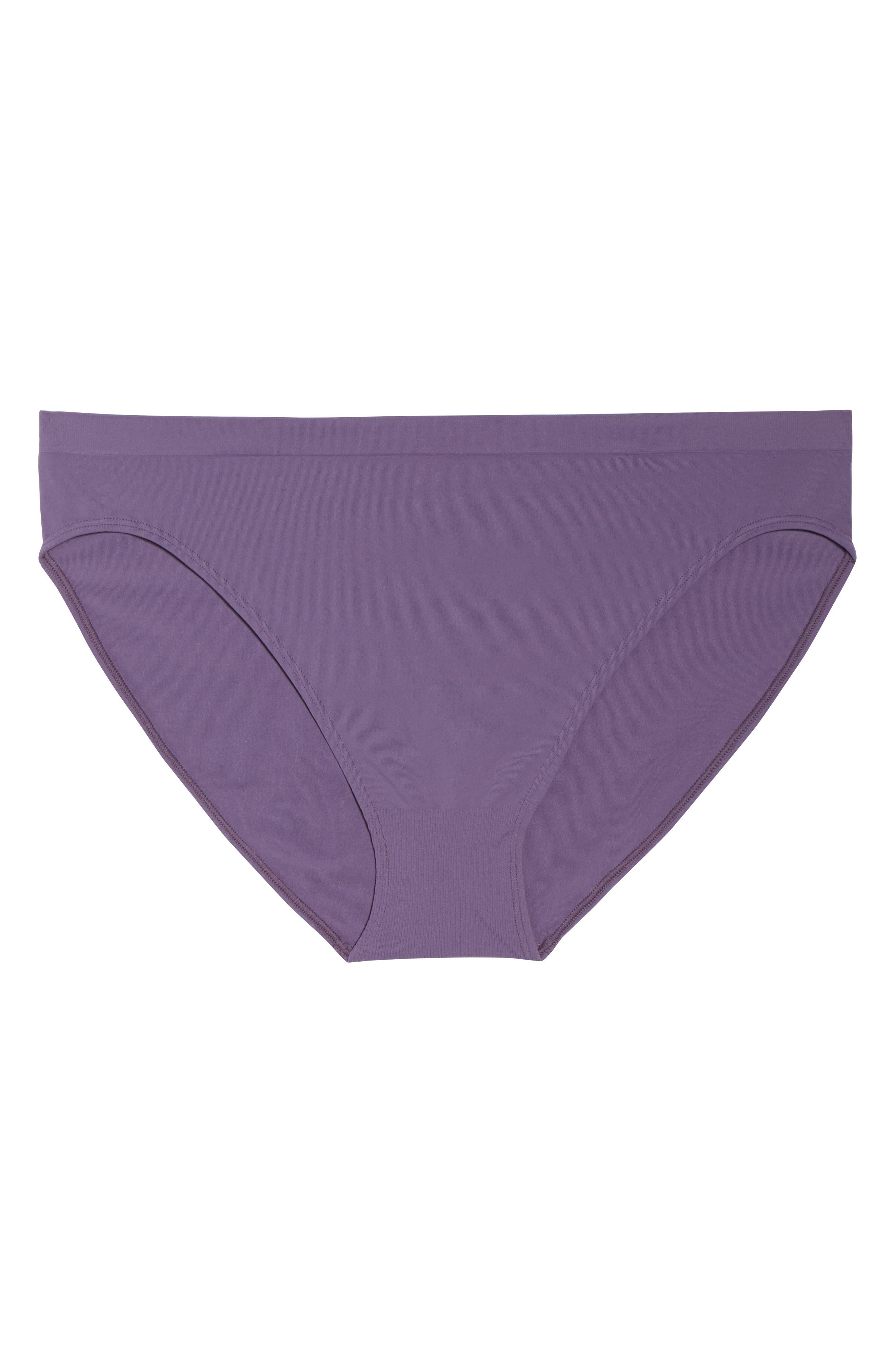 Seamless Bikini,                             Alternate thumbnail 6, color,                             Purple Mulled