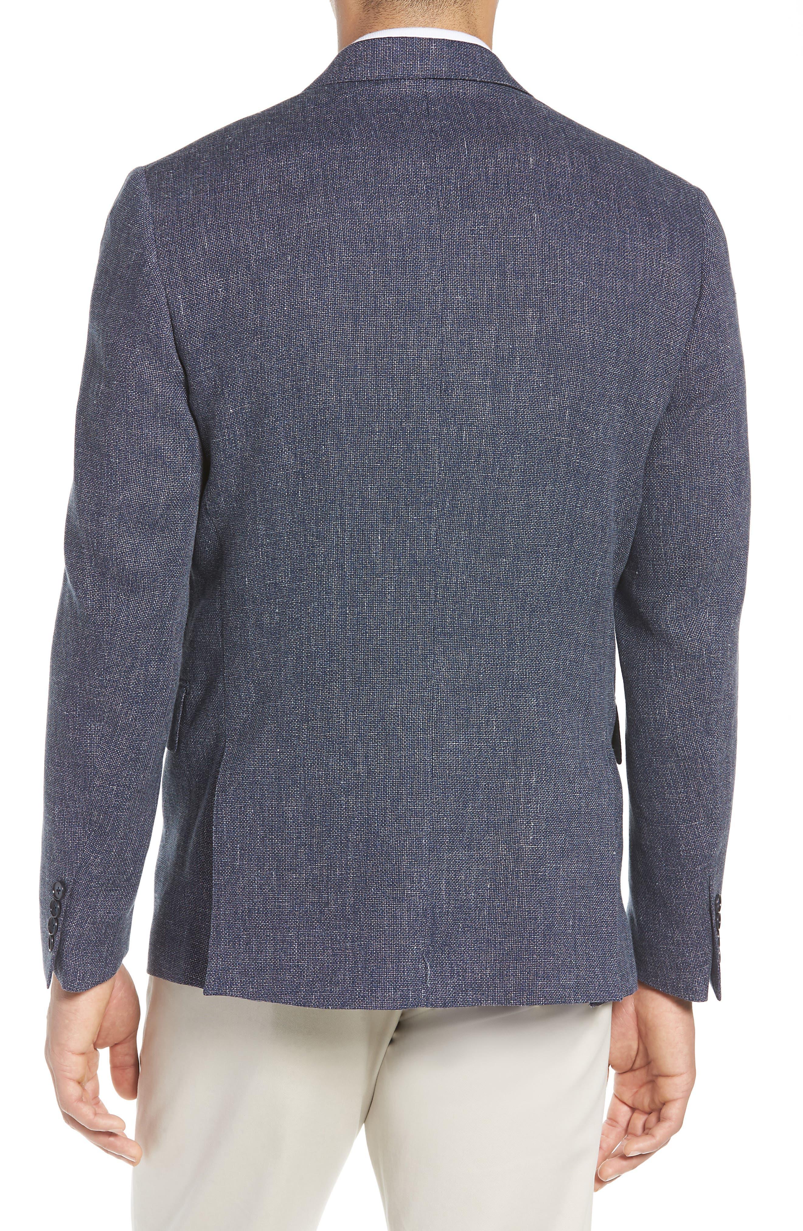 Traditional Fit Mélange Wool & Linen Sport Coat,                             Alternate thumbnail 2, color,                             Blue