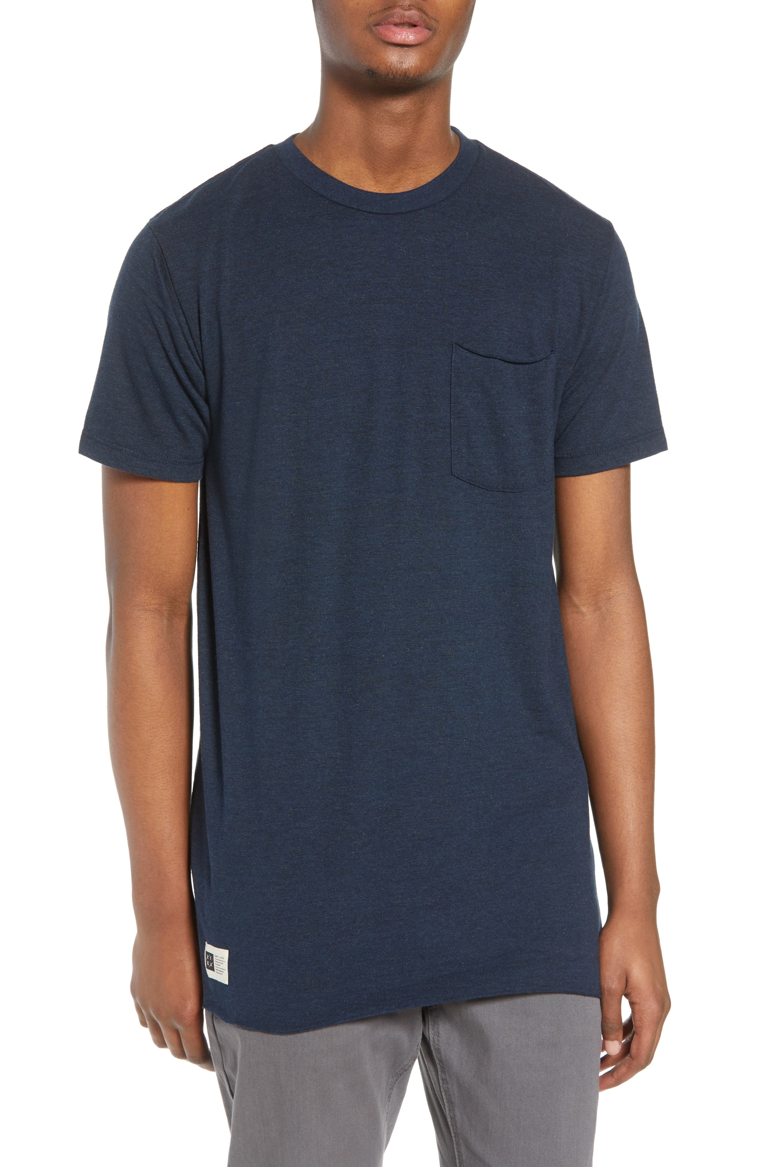 Winslow T-Shirt,                         Main,                         color, Heather Navy