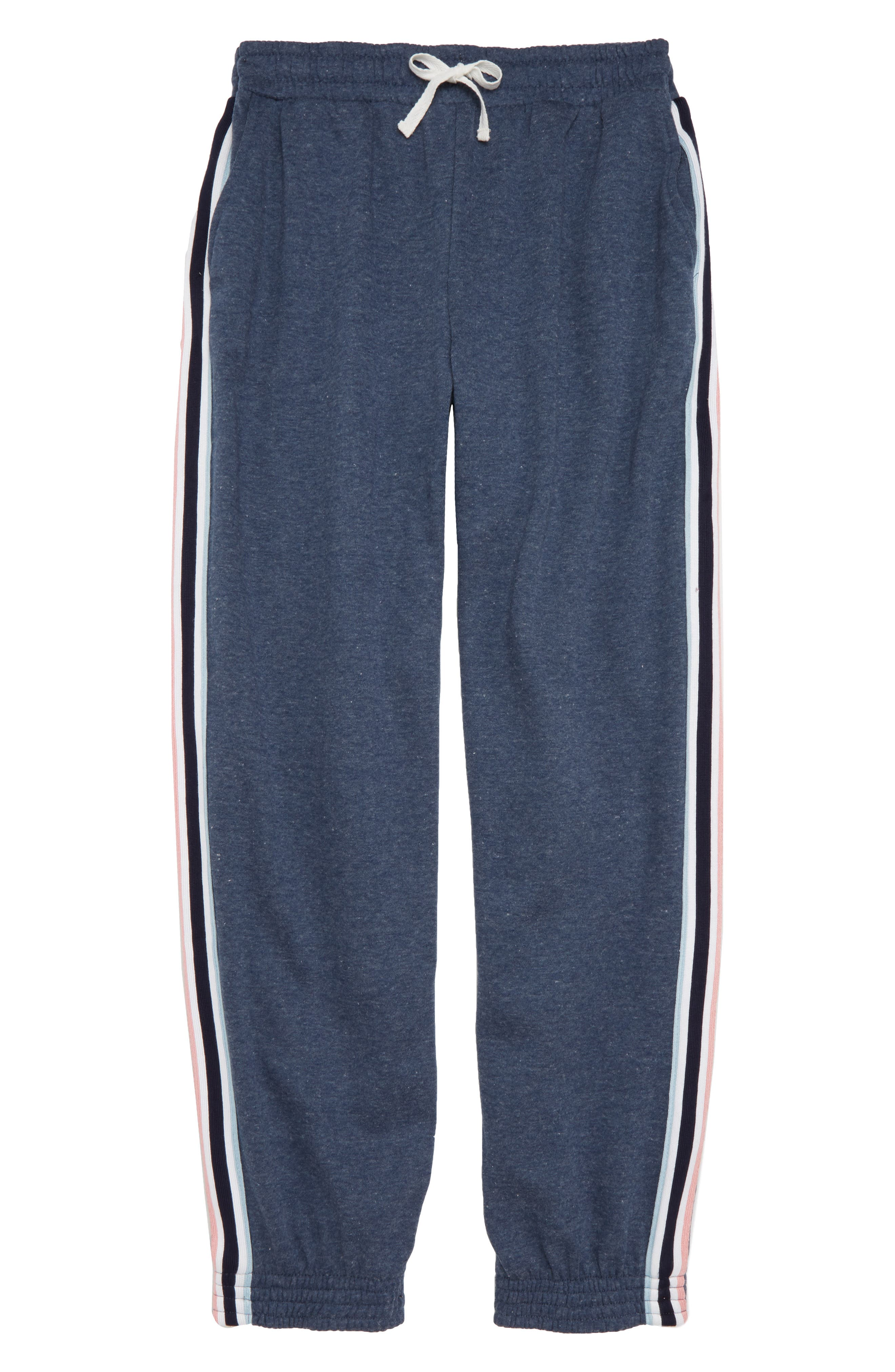 Track Pants,                         Main,                         color, Navy/ Ivory/ Pink