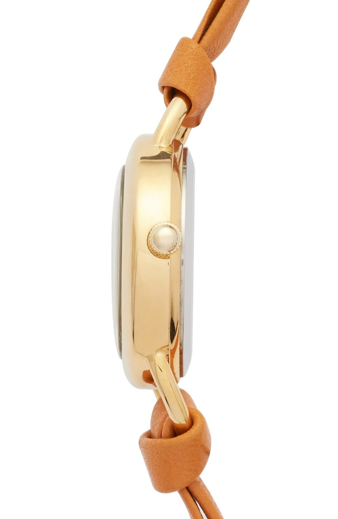 Alternate Image 3  - La Mer Collections 'Saturn' Round Leather Wrap Watch, 32mm (Nordstrom Online Exclusive)