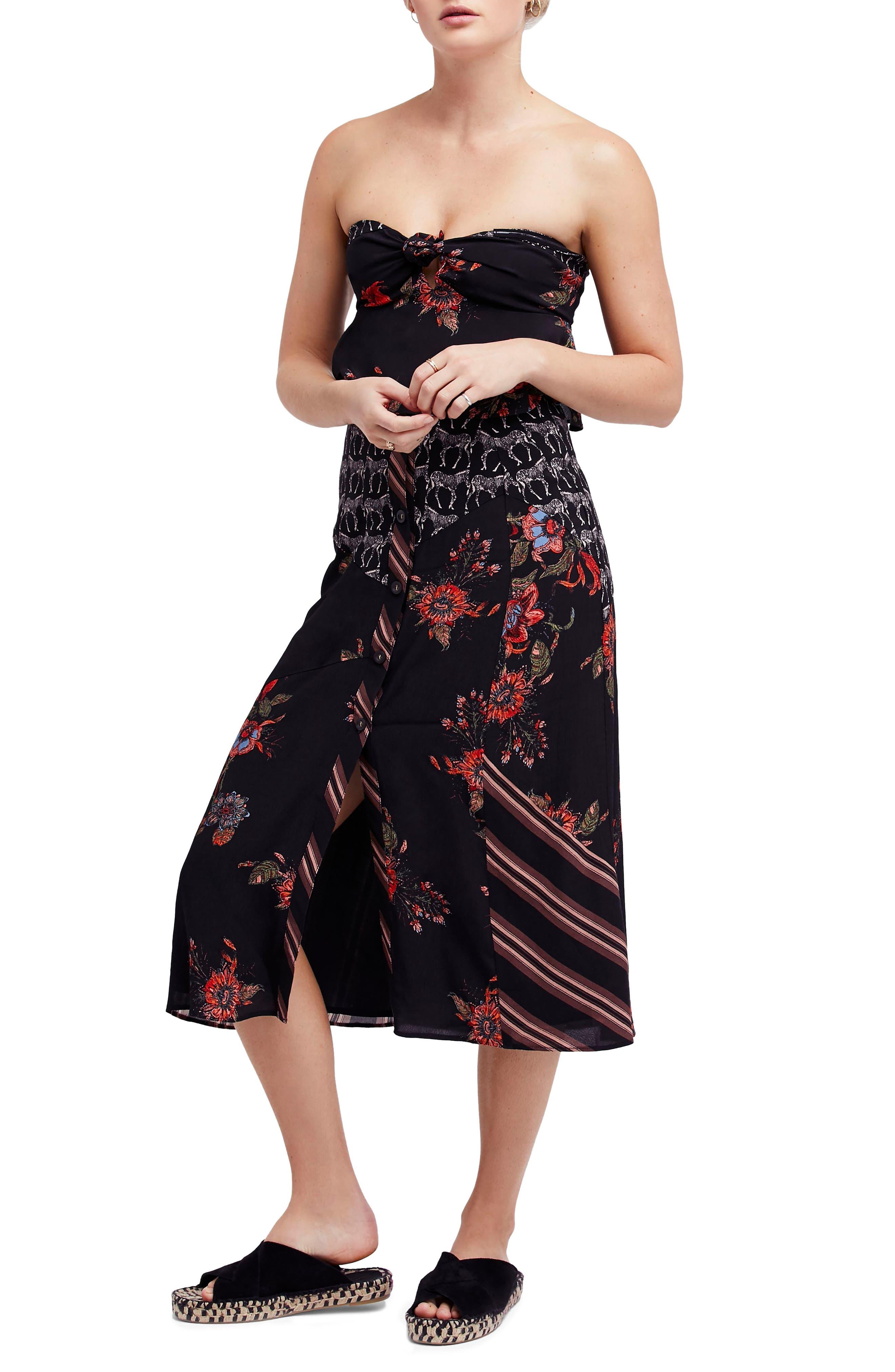 Sunshine Safari Top & Skirt,                             Main thumbnail 1, color,                             Black