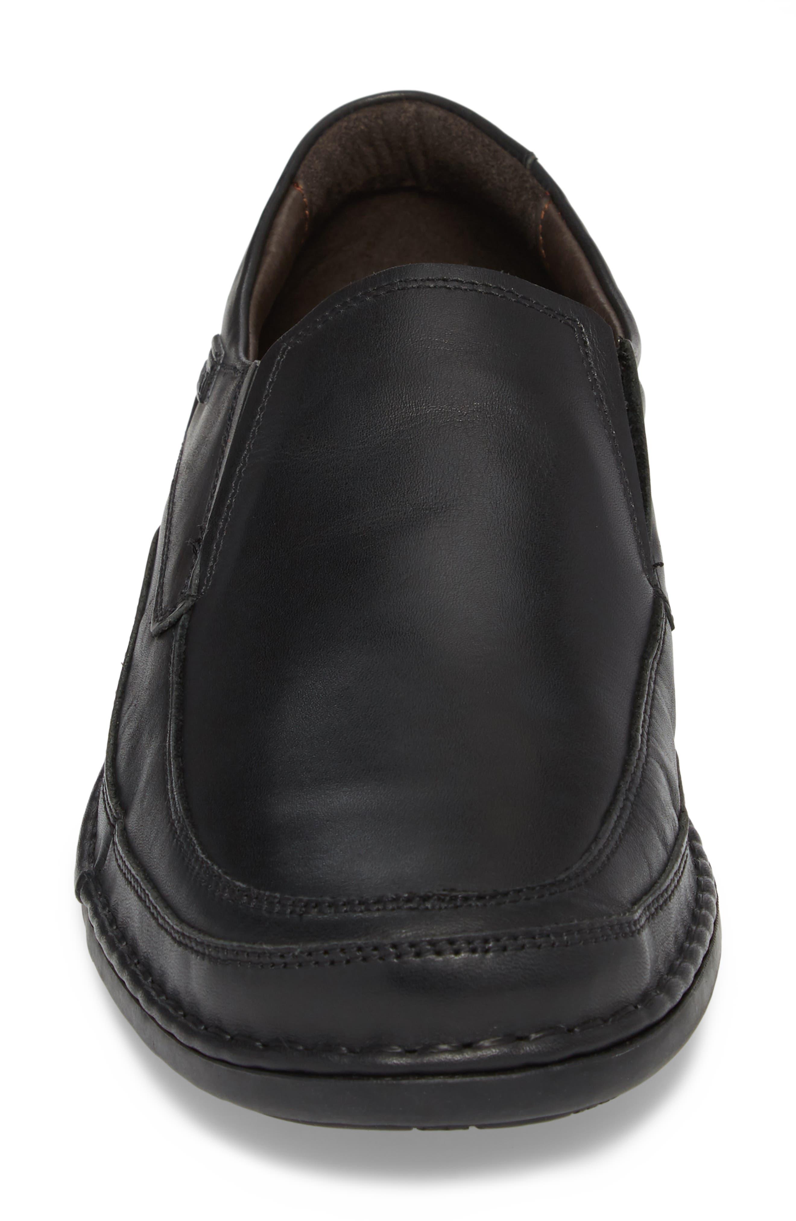 'Oviedo' Slip-On,                             Alternate thumbnail 4, color,                             Black Leather
