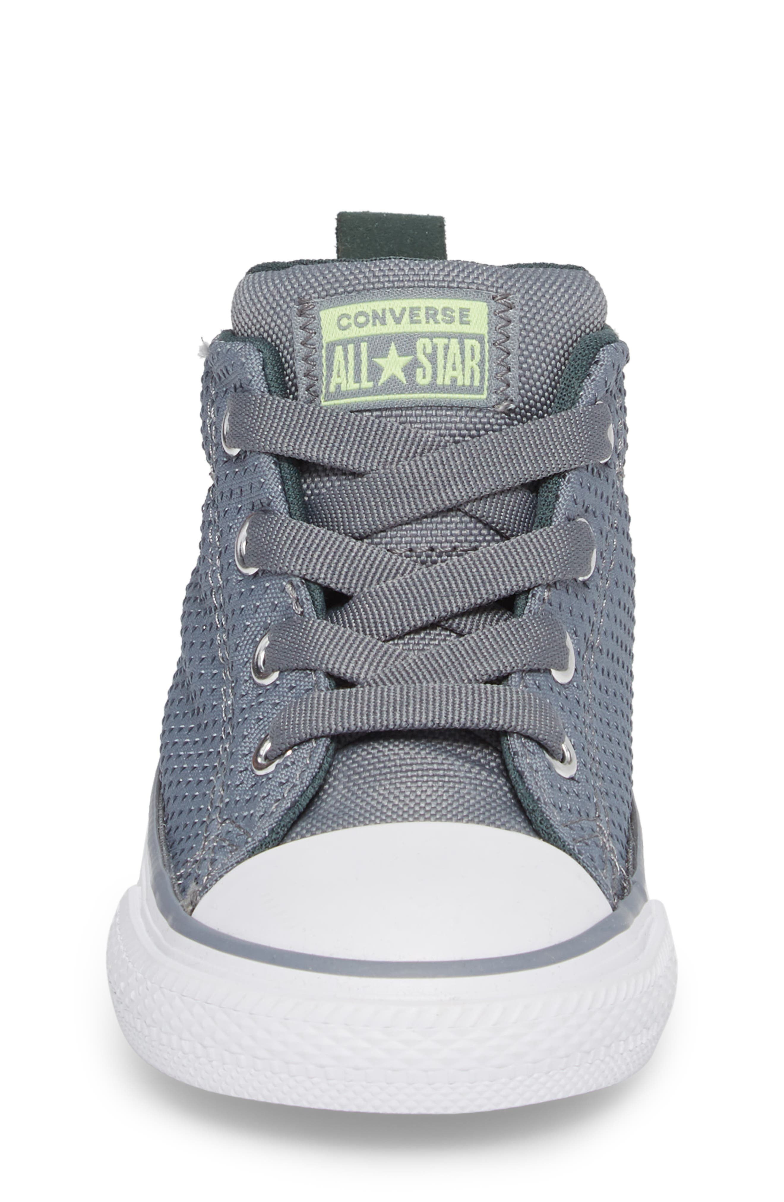 Chuck Taylor<sup>®</sup> All Star<sup>®</sup> Street Mid Top Sneaker,                             Alternate thumbnail 4, color,                             Pale Grey