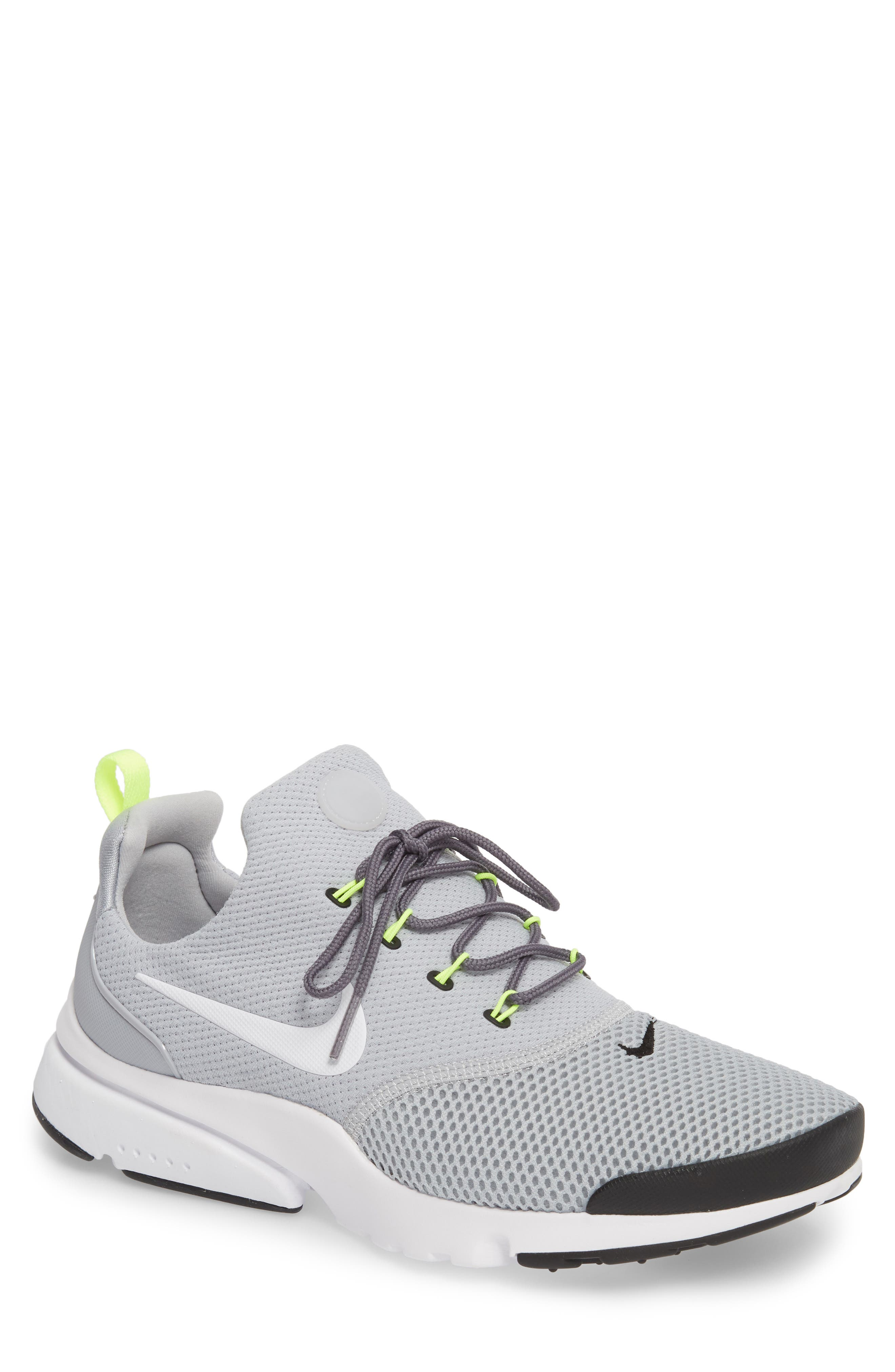 Presto Fly Sneaker,                             Main thumbnail 1, color,                             Wolf Grey/ White/ Volt
