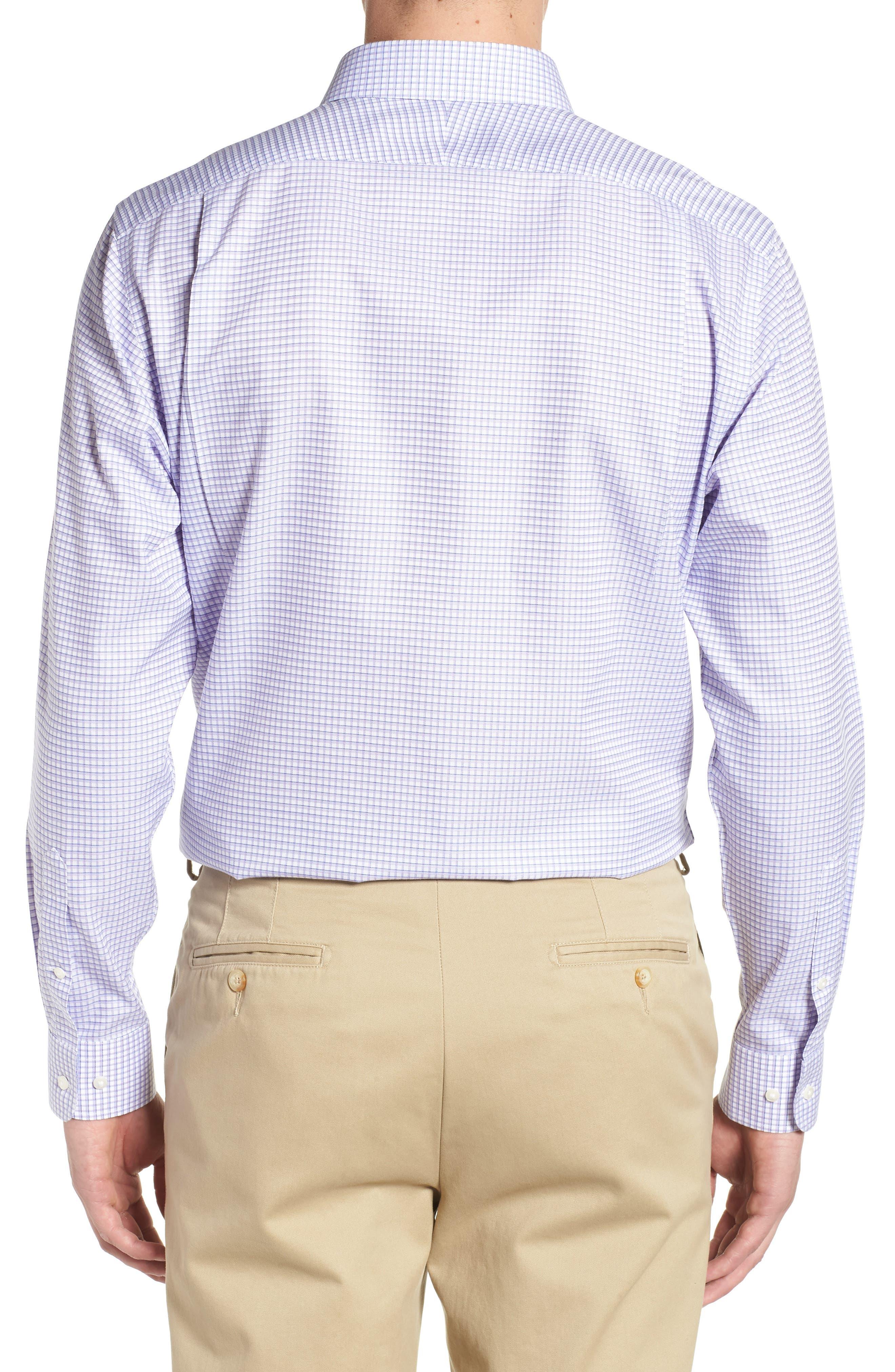 Smartcare<sup>™</sup> Traditional Fit Check Sport Shirt,                             Alternate thumbnail 3, color,                             Purple Dahlia