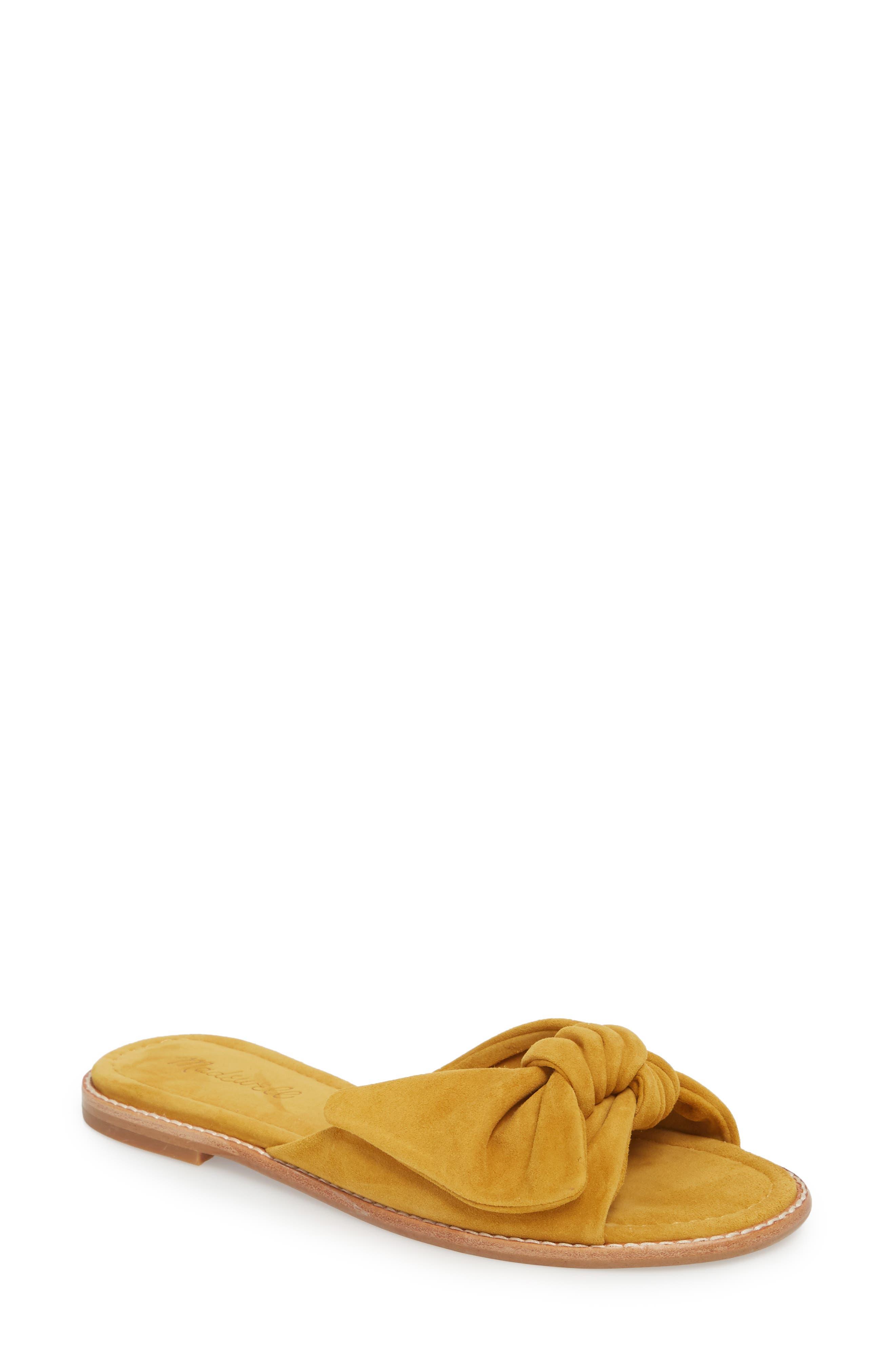 Naida Slide Sandal,                         Main,                         color, Cider Leather