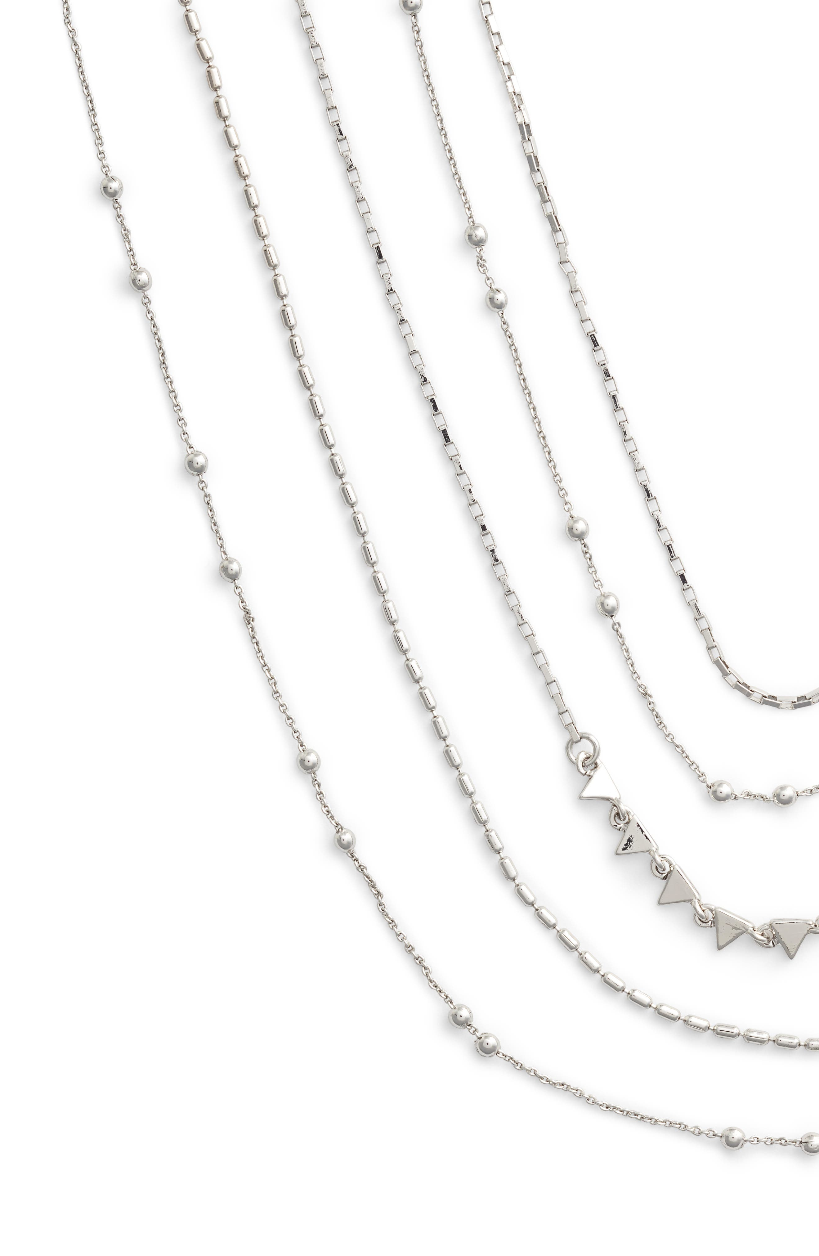 Zoe Multistrand Necklace,                             Alternate thumbnail 2, color,                             Silver