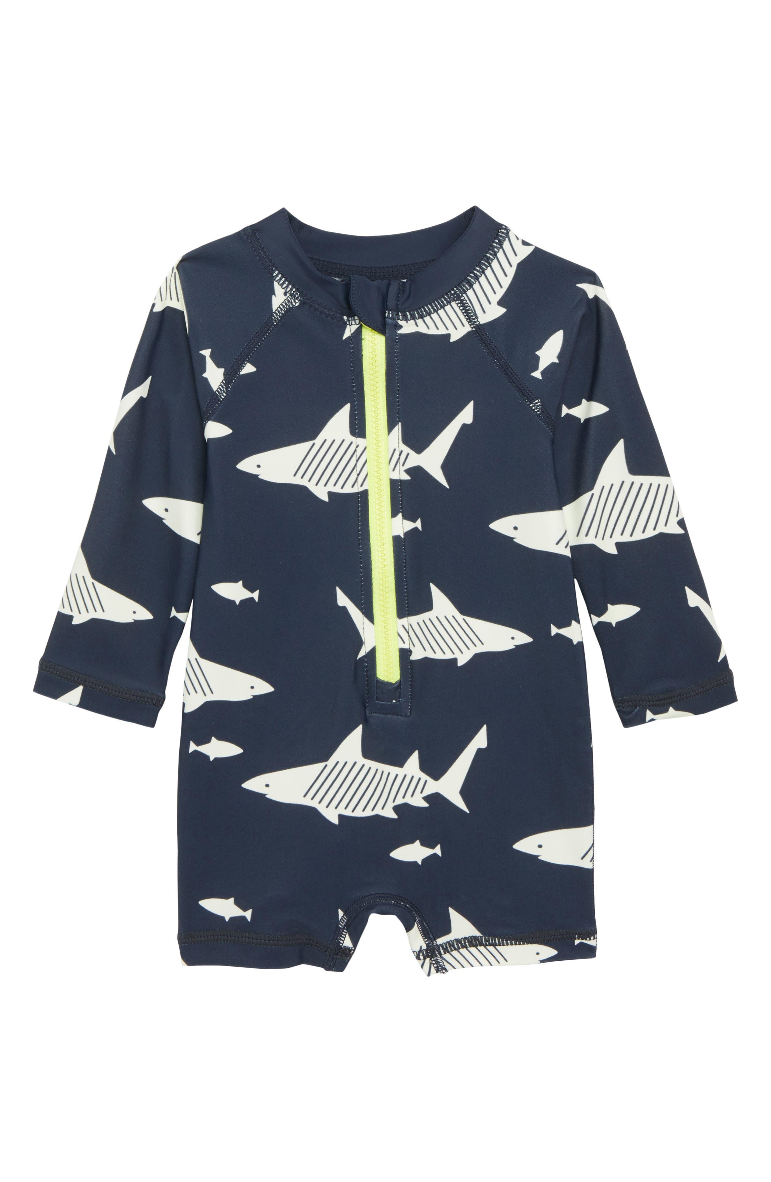 Tea Collection Shark One-Piece Rashguard (Baby Boys)