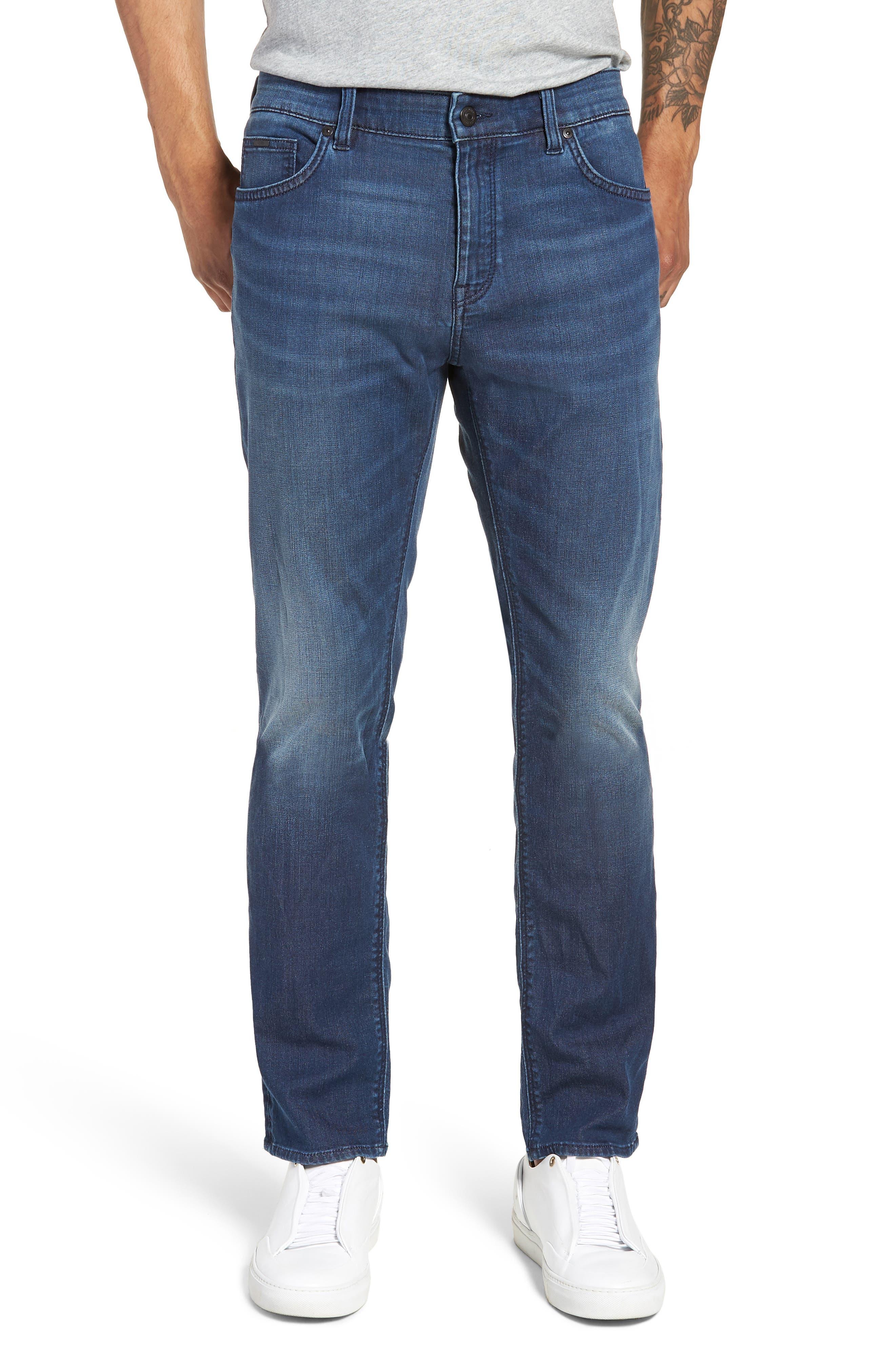 Maine Straight Leg Jeans,                             Main thumbnail 1, color,                             Blue