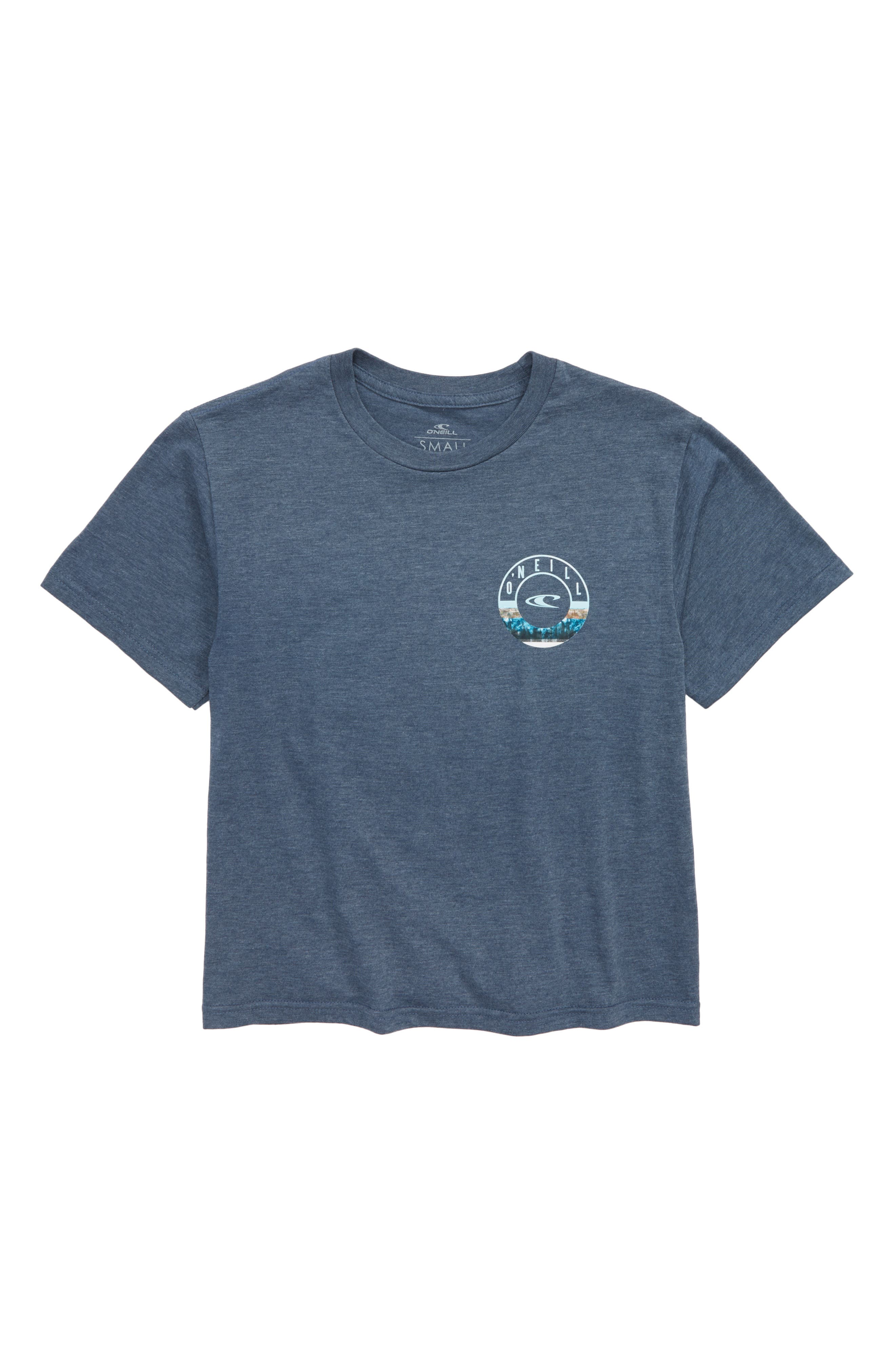 Fillmore Graphic T-Shirt,                         Main,                         color, Navy Heather