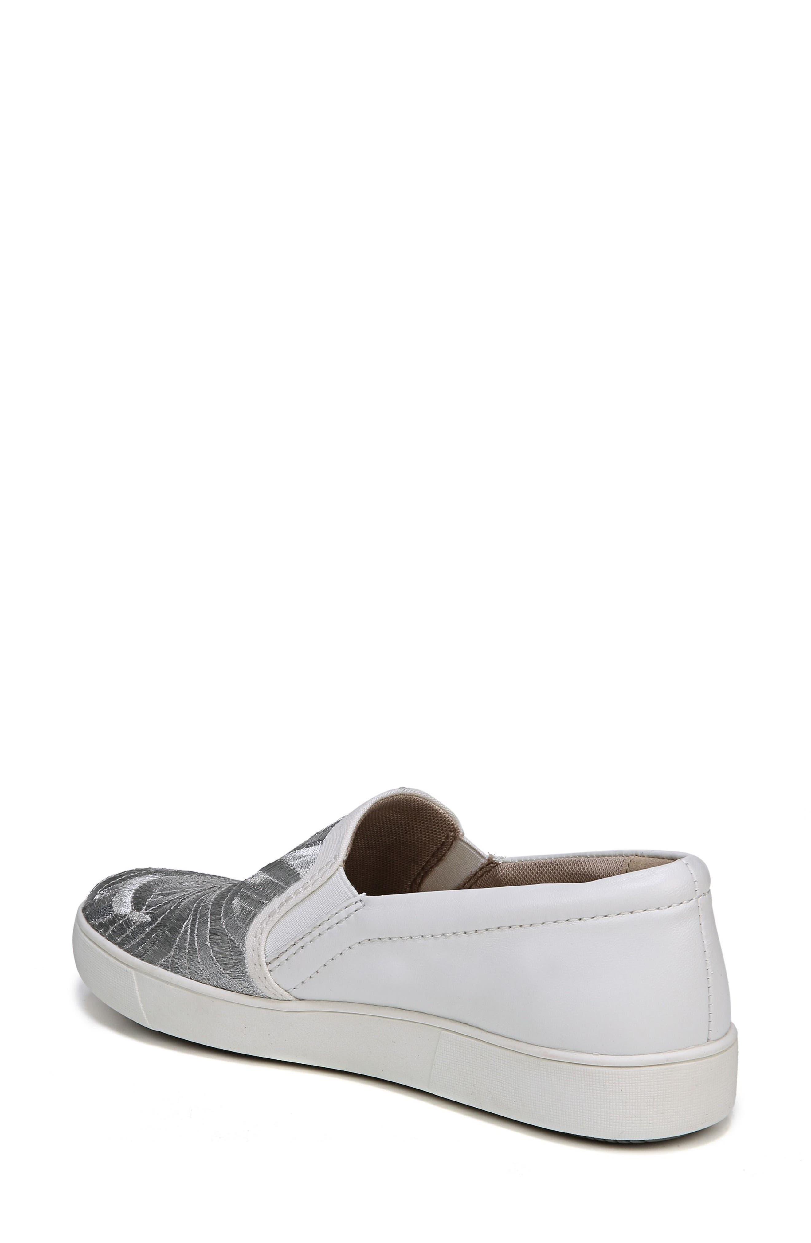 Marianne Slip-On Sneaker,                             Alternate thumbnail 2, color,                             White/ Silver Leather