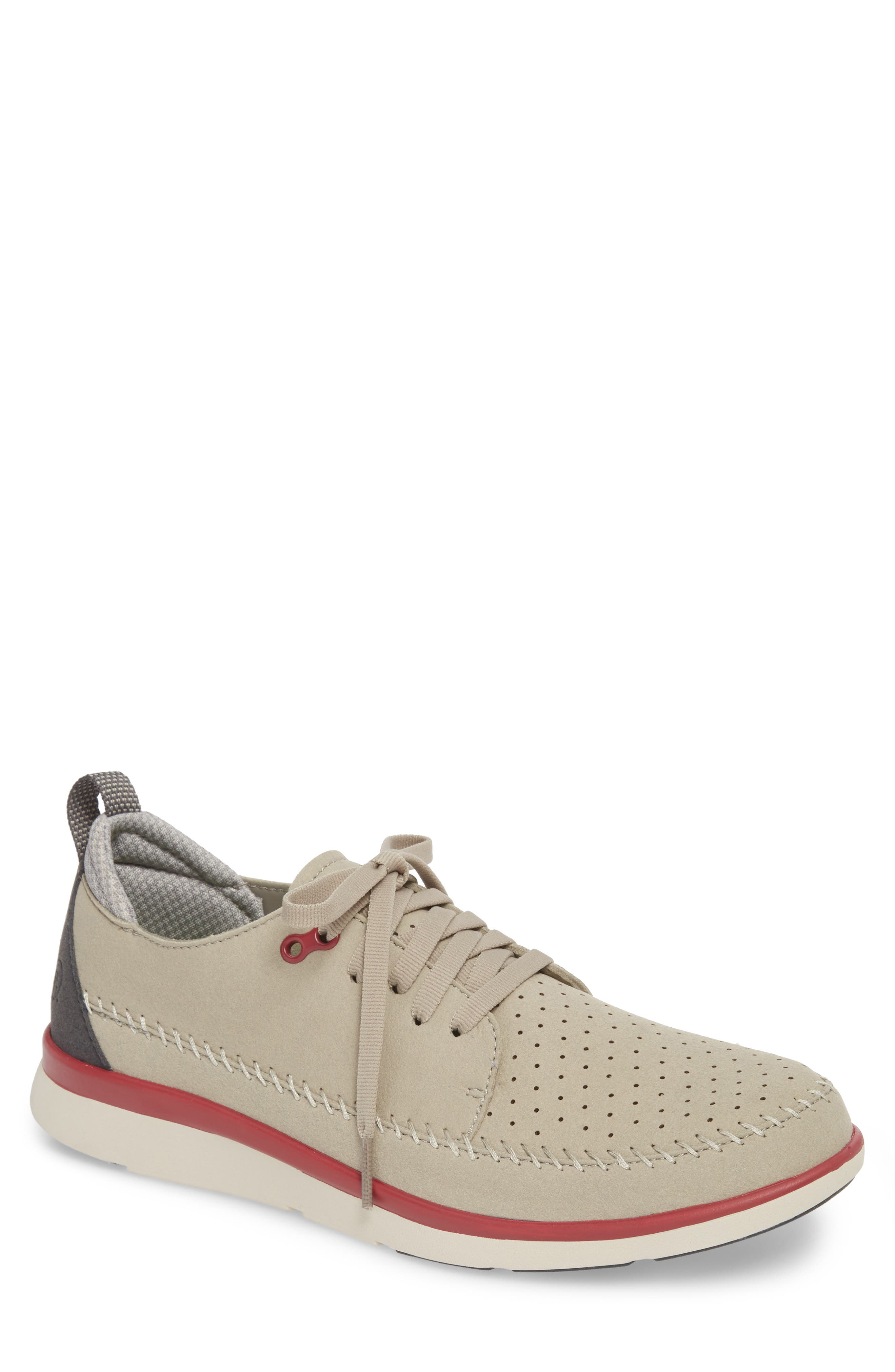 Worldwide Crane Perforated Sneaker,                         Main,                         color, Grey