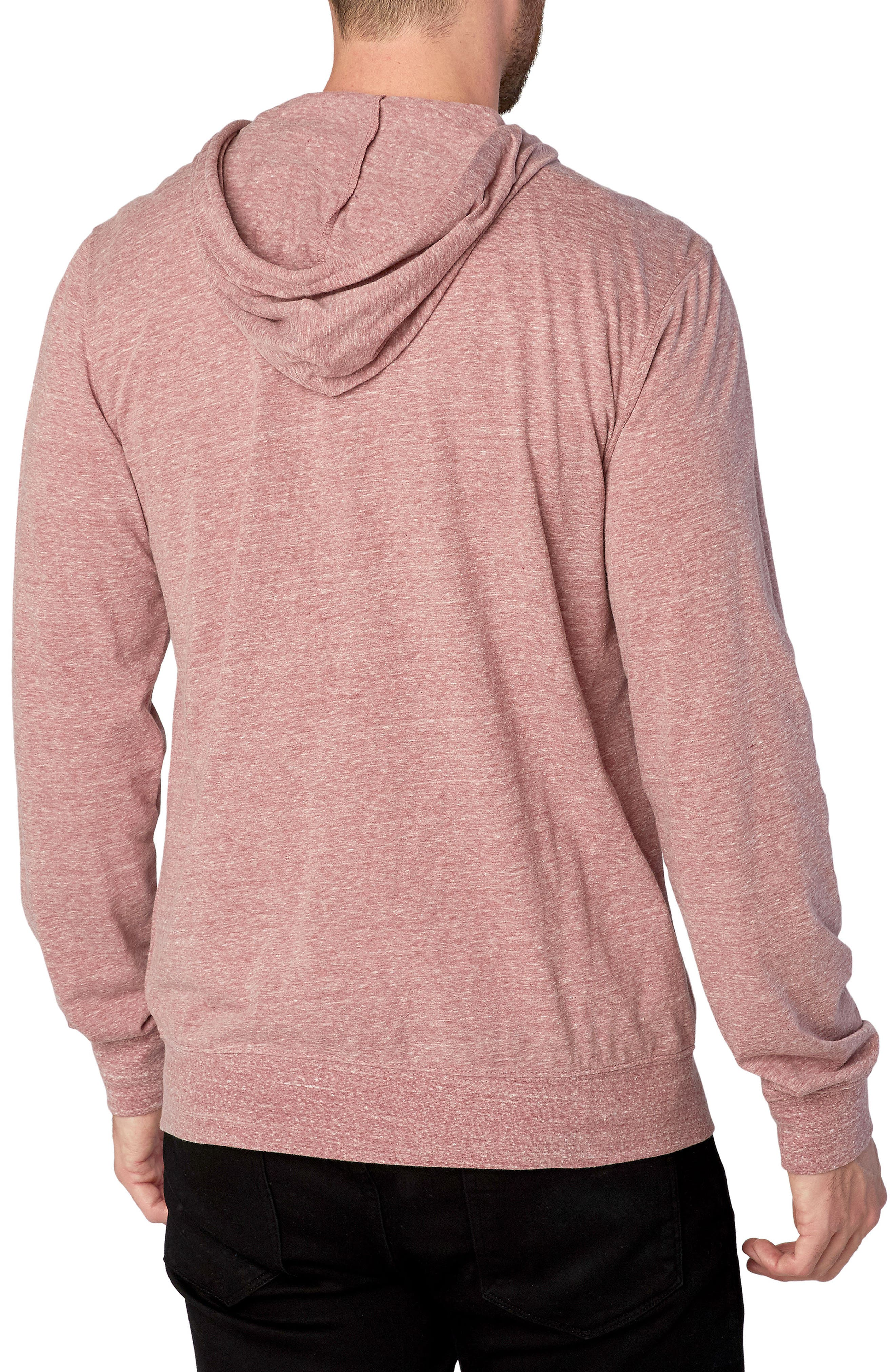 Threads for Thought Giulio Zip Hoodie,                             Alternate thumbnail 2, color,                             Brick Red