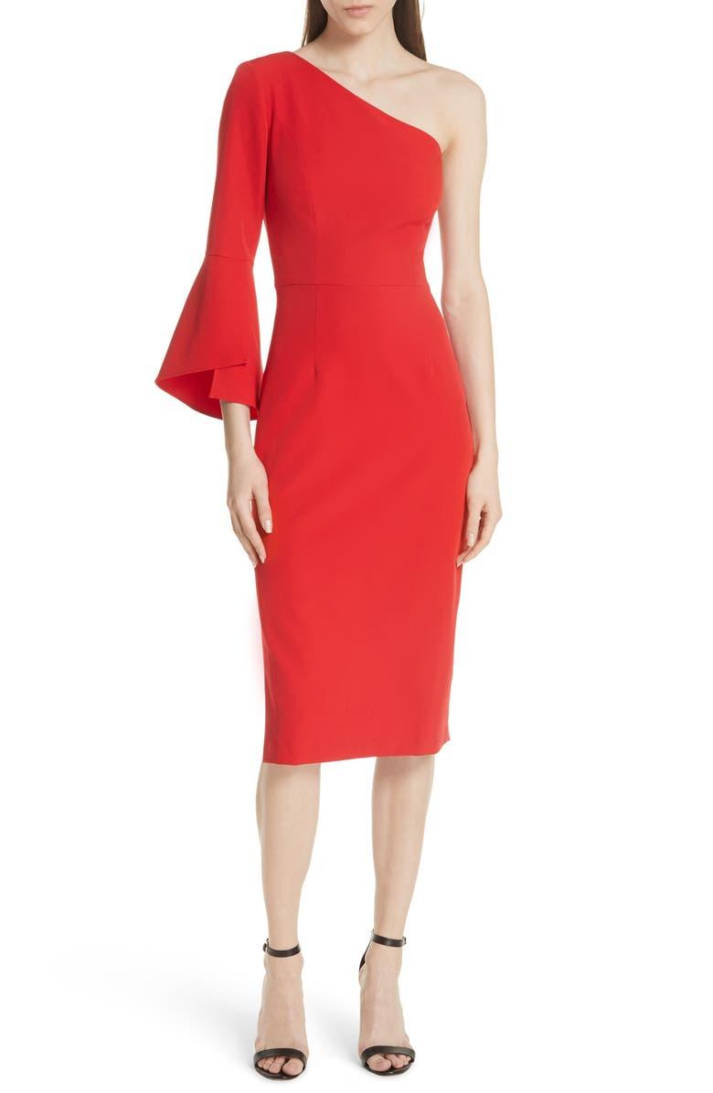 Sandrine One-Shoulder Sheath Dress