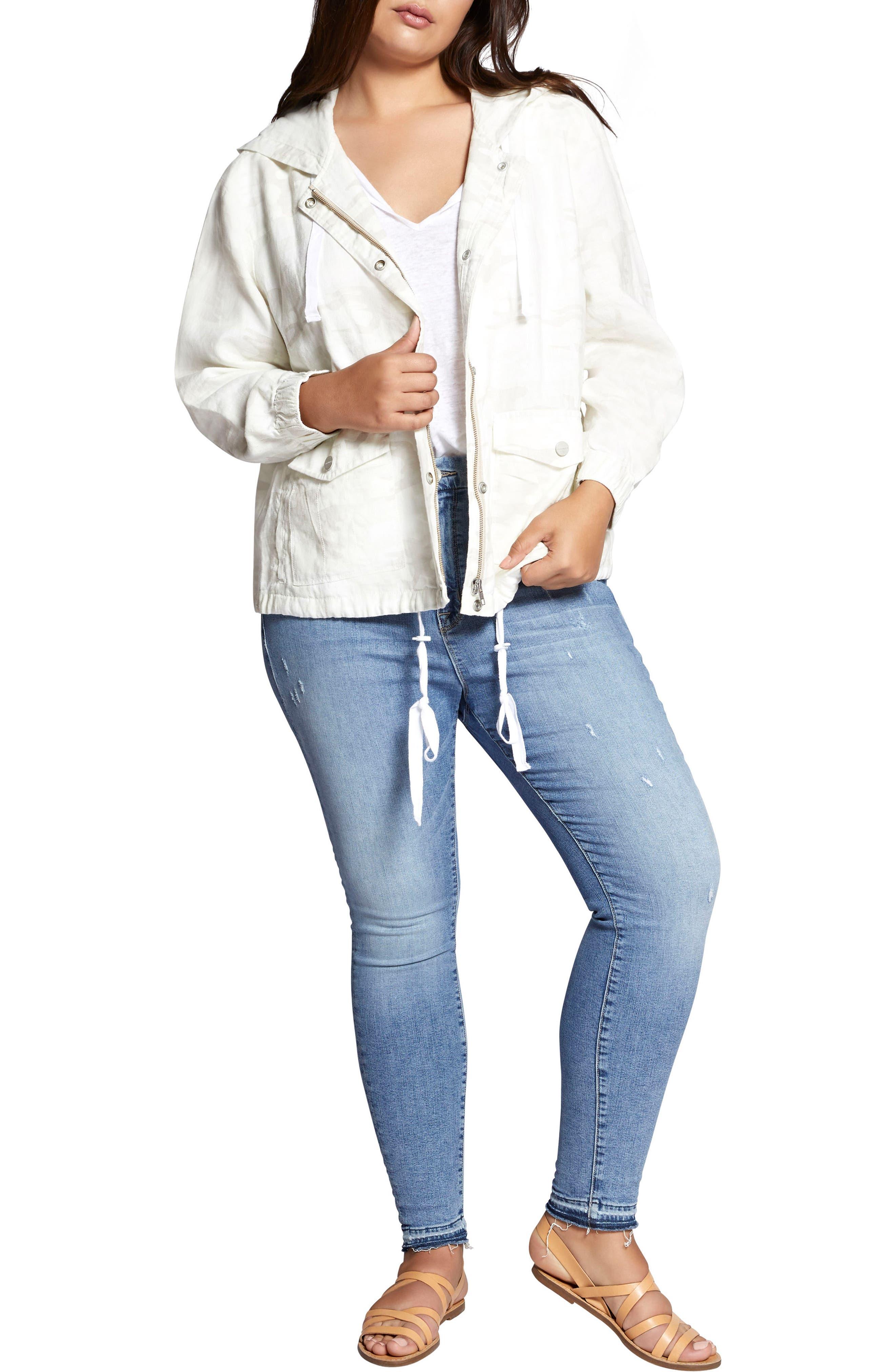 Nova Hooded Jacket,                             Alternate thumbnail 4, color,                             White Camo