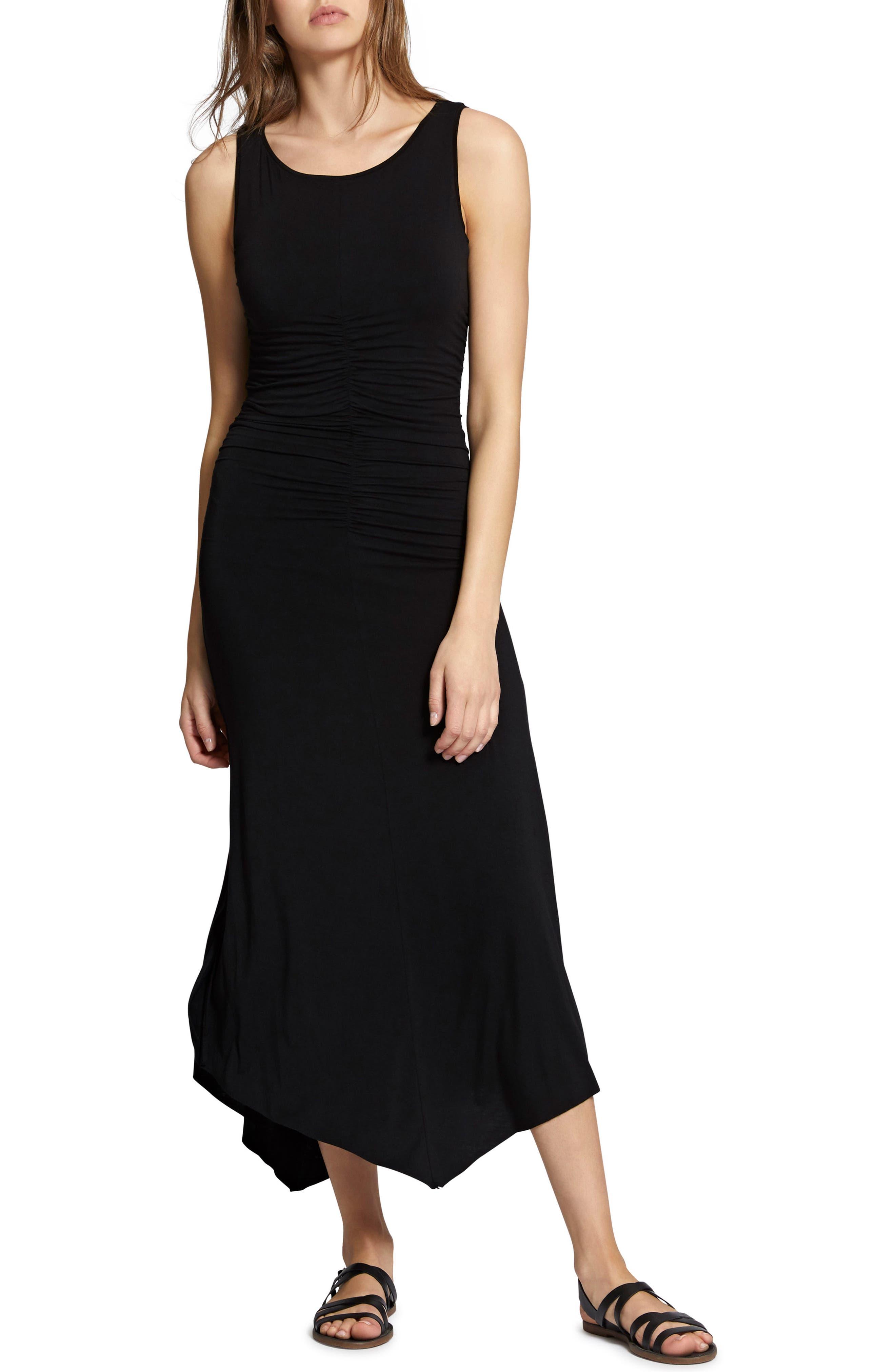 Samba Midi Tank Dress,                             Alternate thumbnail 4, color,                             Black