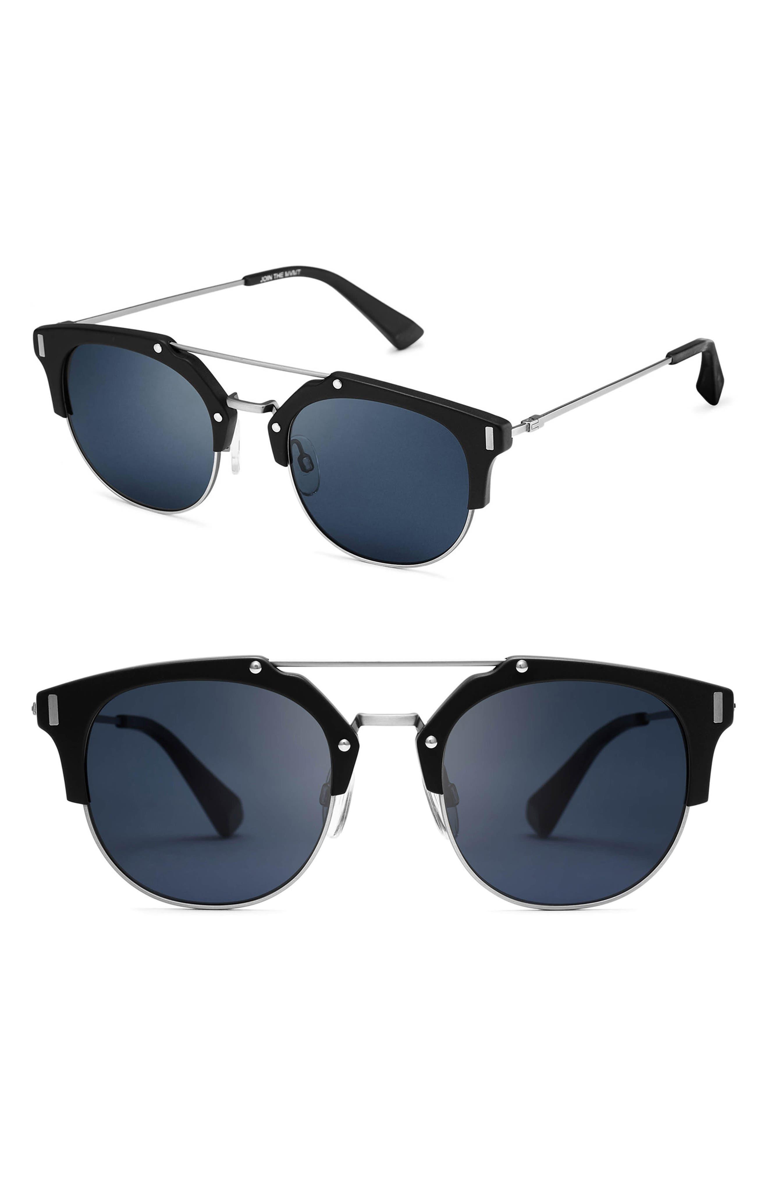 Weekend 51mm Sunglasses,                         Main,                         color, Matte Black