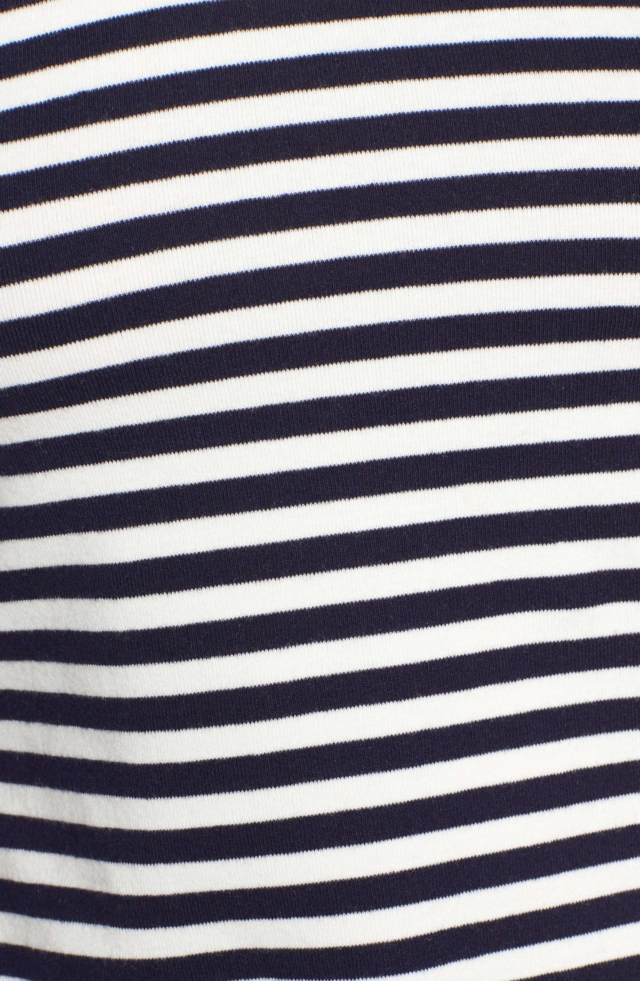 Stripe Tee,                             Alternate thumbnail 6, color,                             Navy/ White