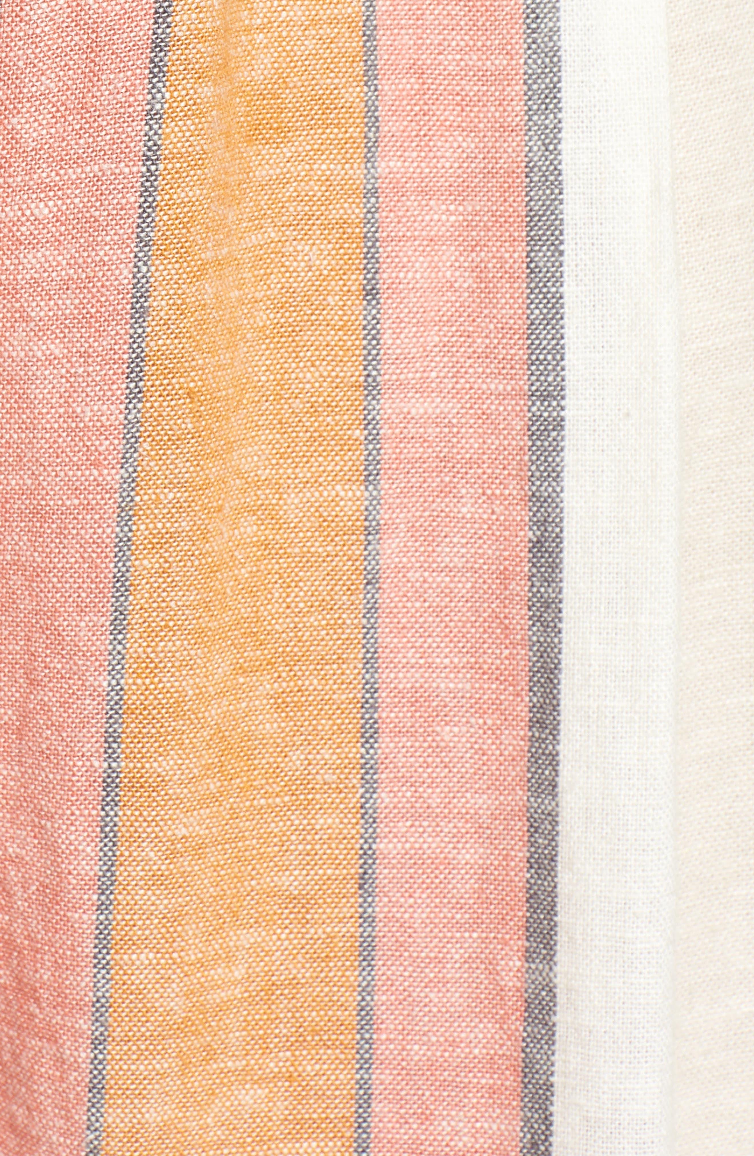 Stripe Surplice Jumpsuit,                             Alternate thumbnail 5, color,                             Ivy 70S Vertical Stripe