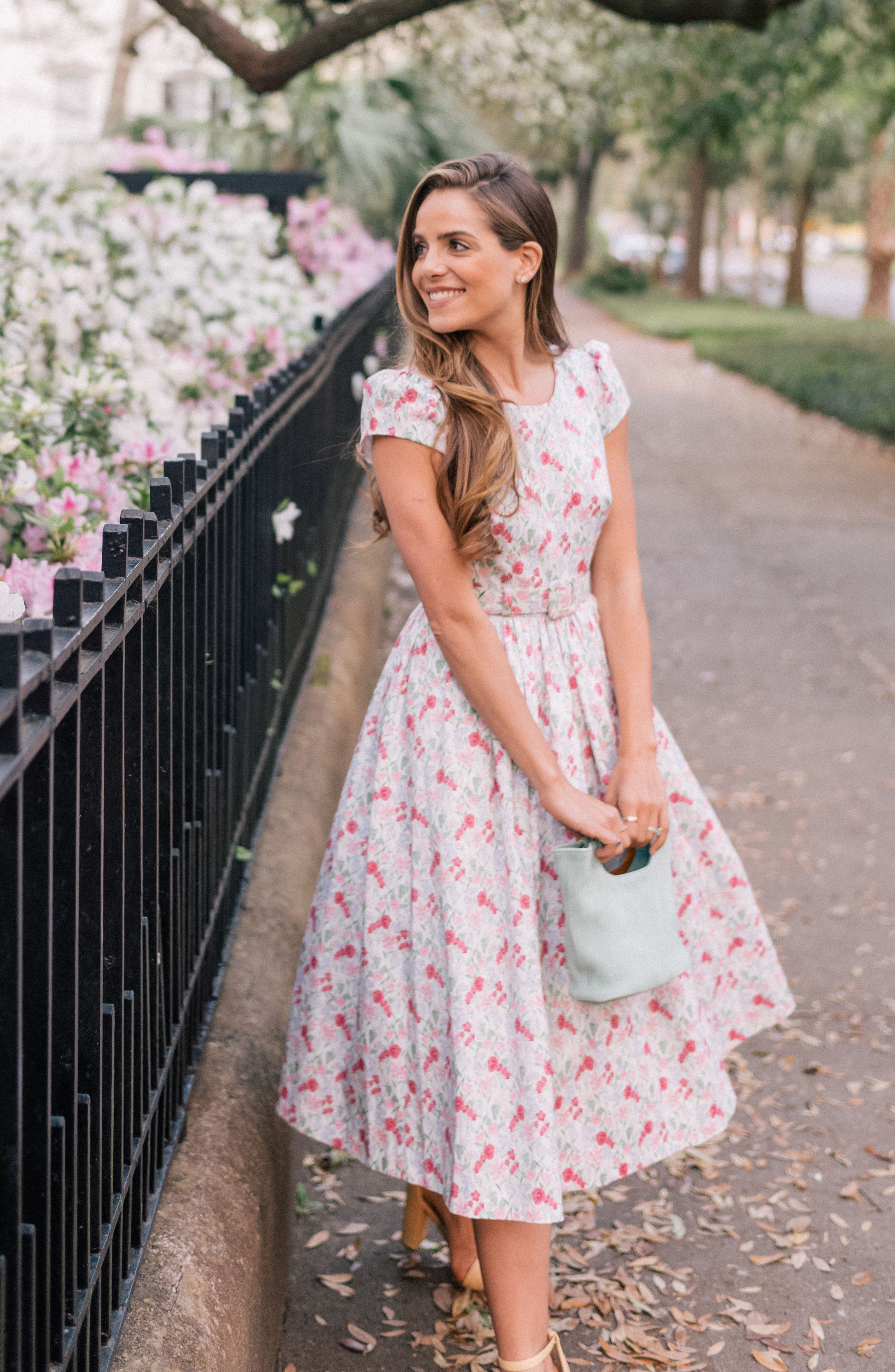 Alternate Image 2  - Gal Meets Glam Collection Packed Bouquet Print Cotton Dress