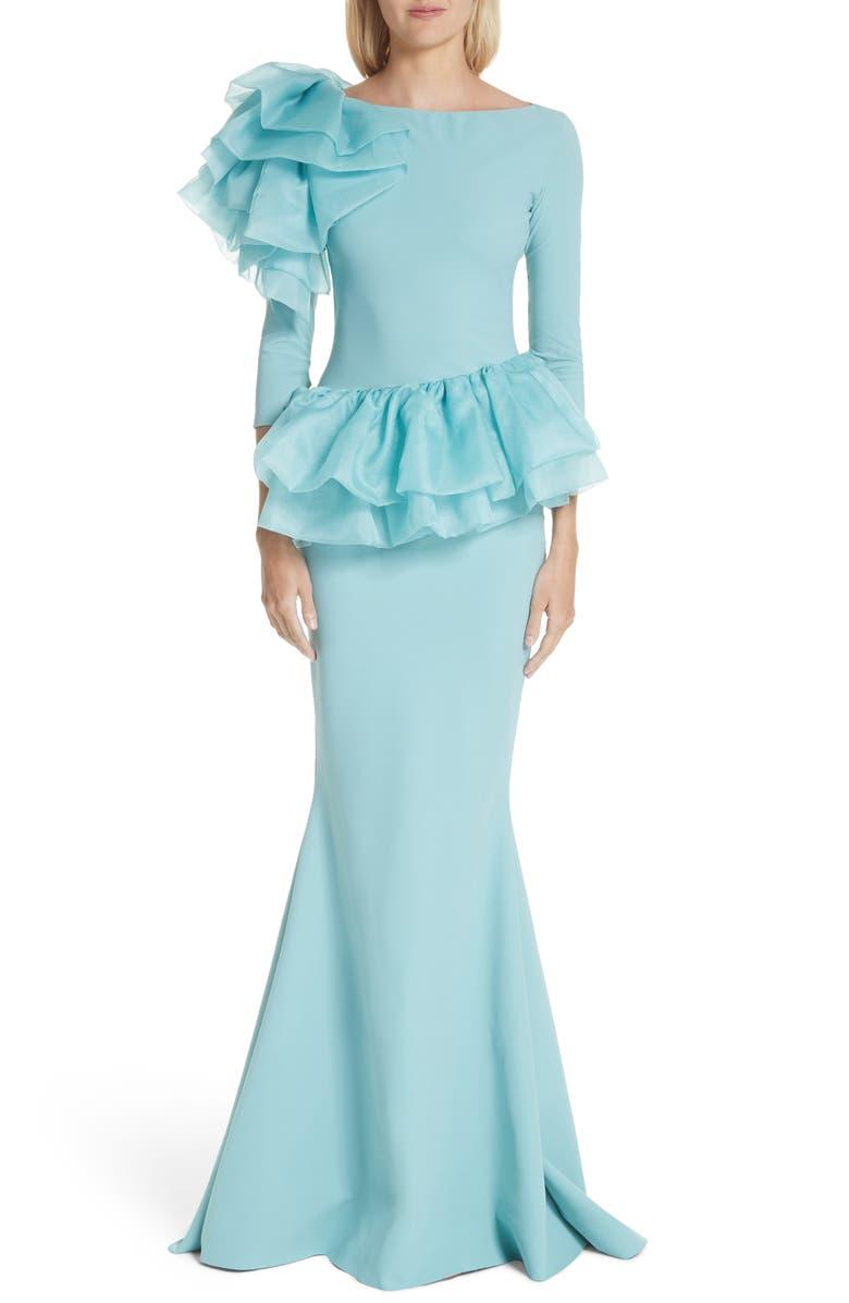 Glanys Organza Ruffle Mermaid Gown