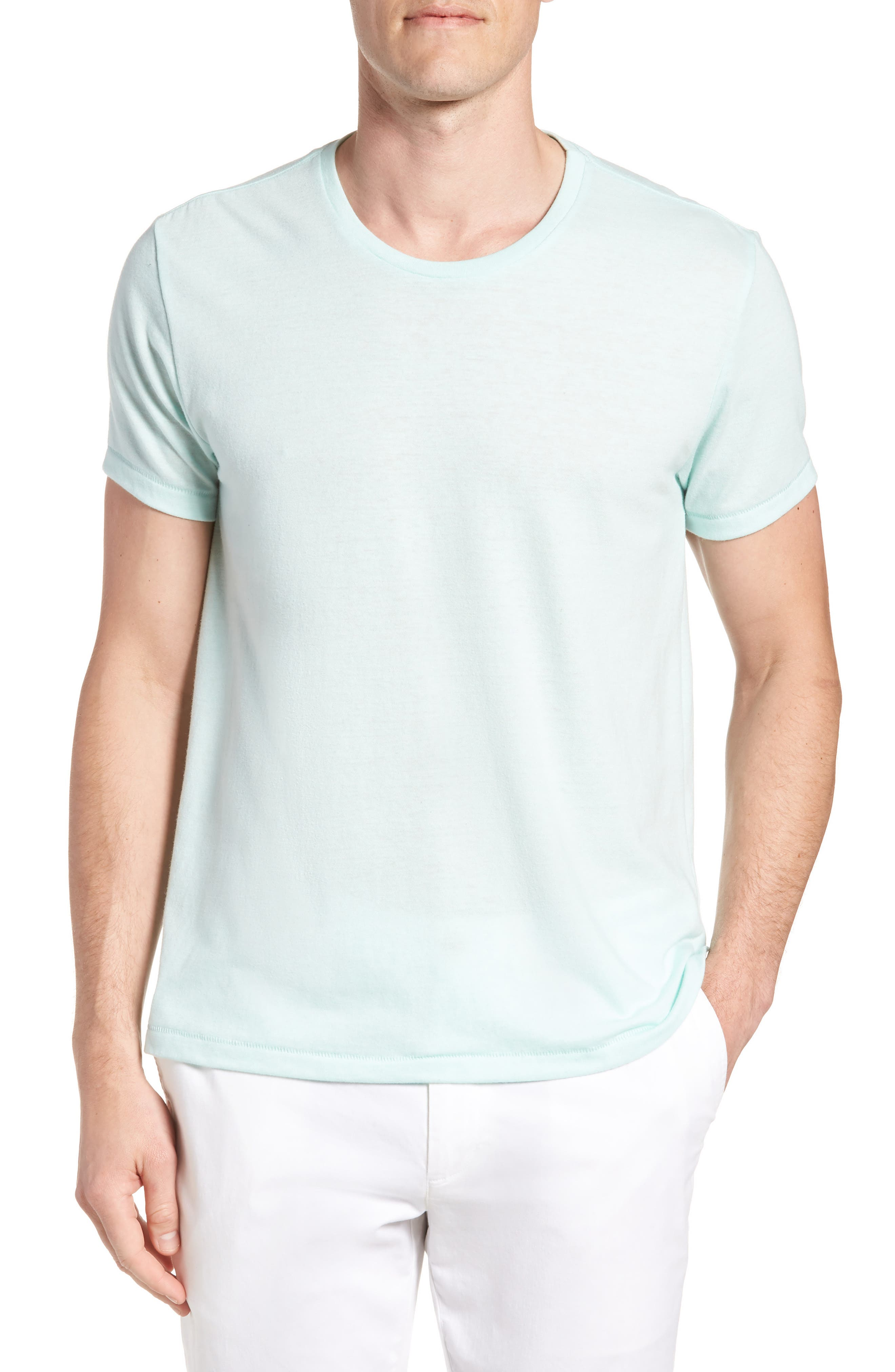 LA Slim Fit Heathered T-Shirt,                         Main,                         color, Heather Mint