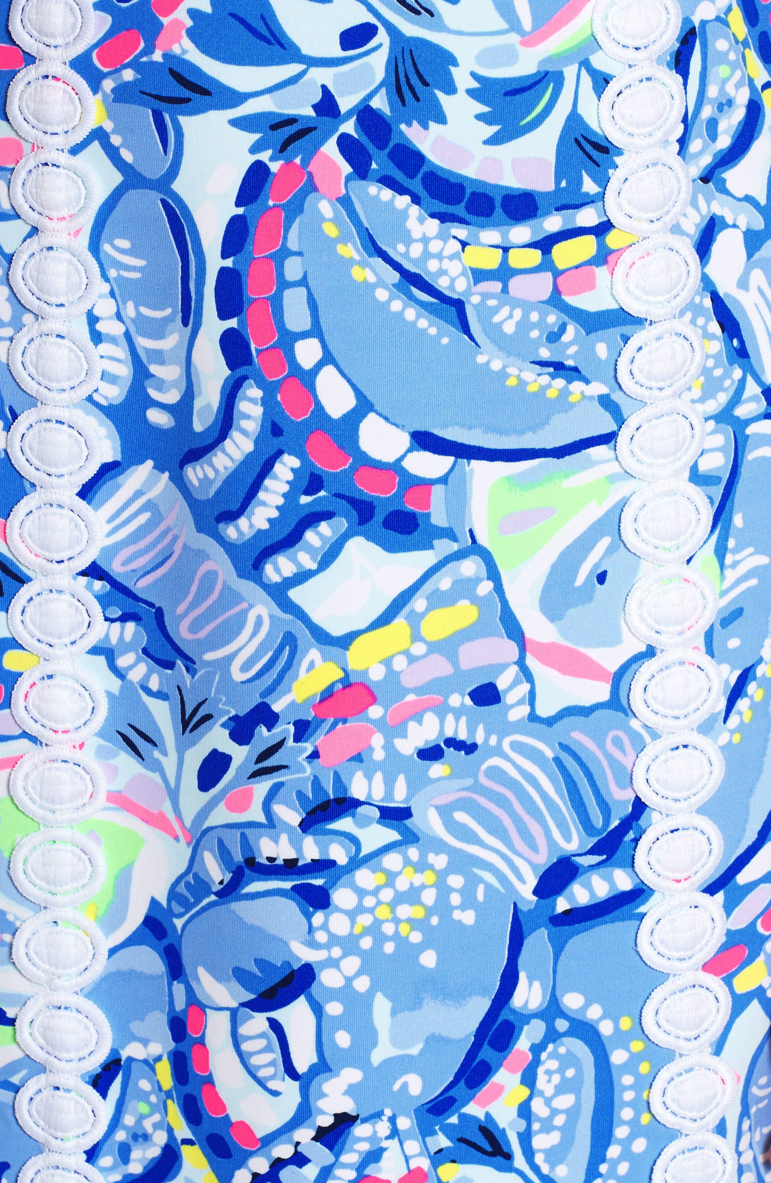 Janelle Stretch Sheath Dress,                             Alternate thumbnail 5, color,                             Blue Peri Pinch