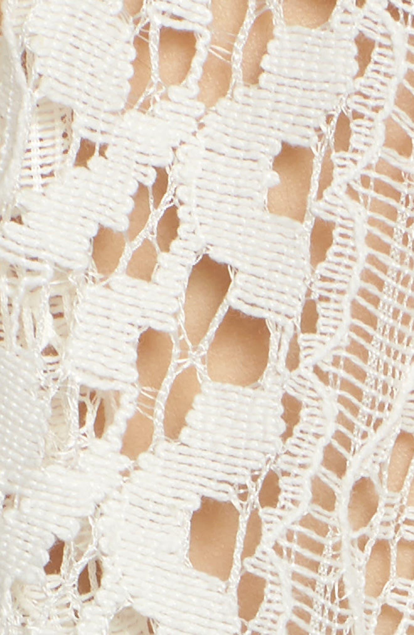 Lace Kimono Pullover,                             Alternate thumbnail 5, color,                             White
