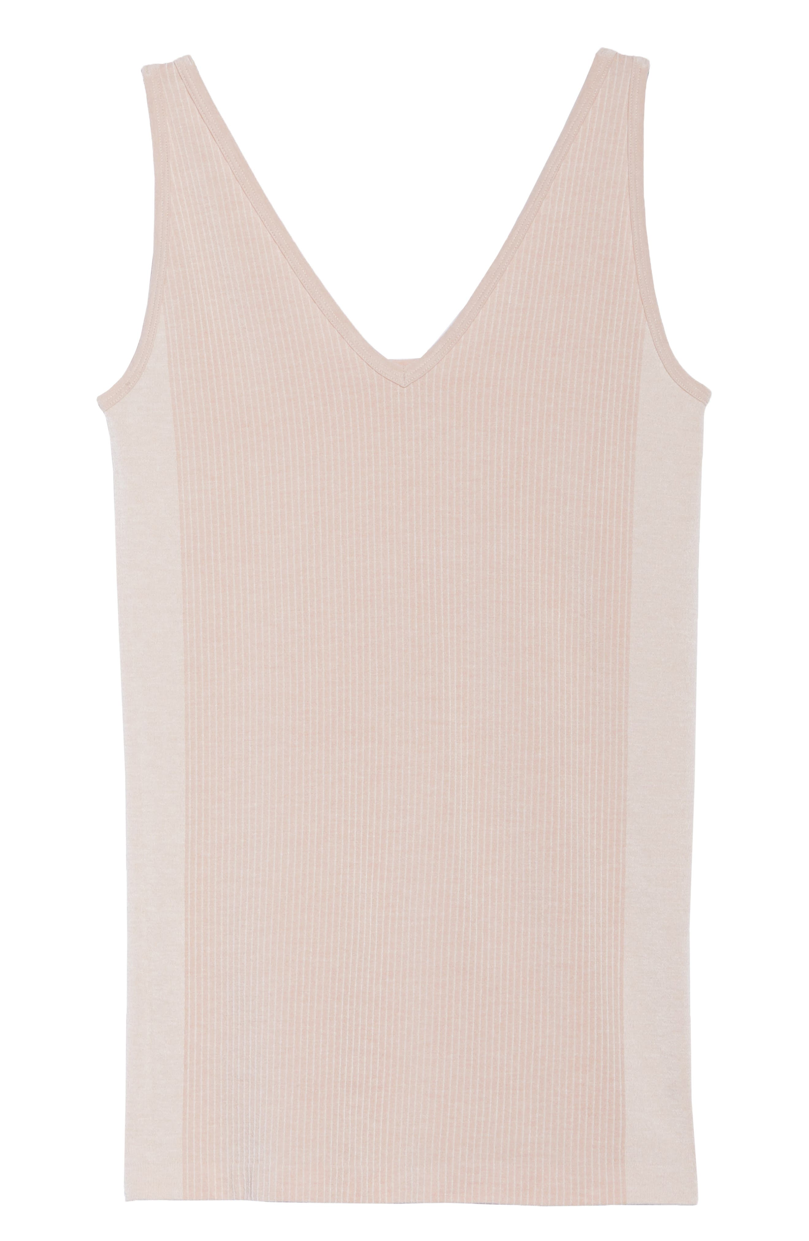 Laidback Layers Two-Way Seamless Tank,                             Alternate thumbnail 7, color,                             Pink Cashmere