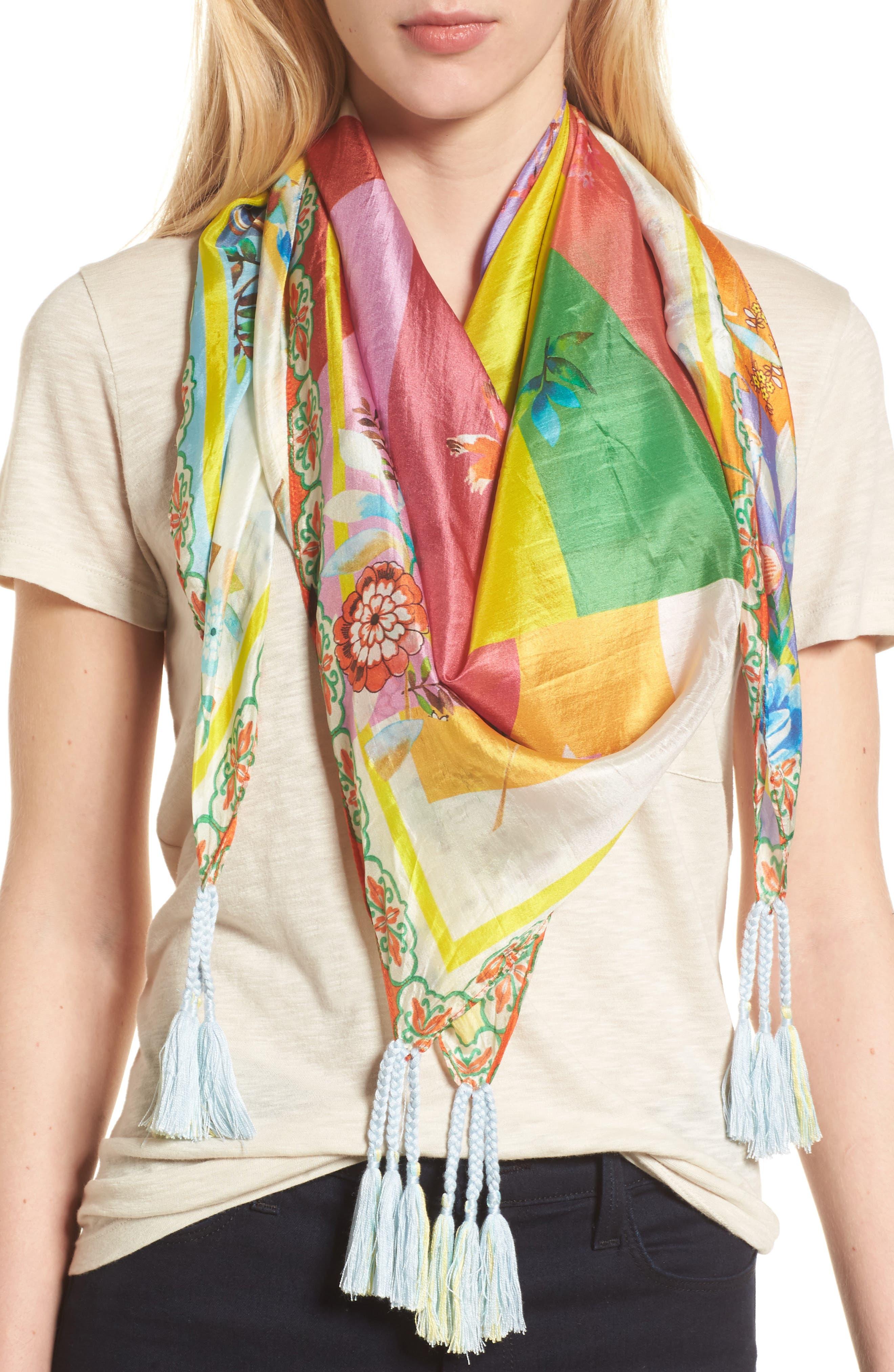 Silk Scarf,                         Main,                         color, Multi
