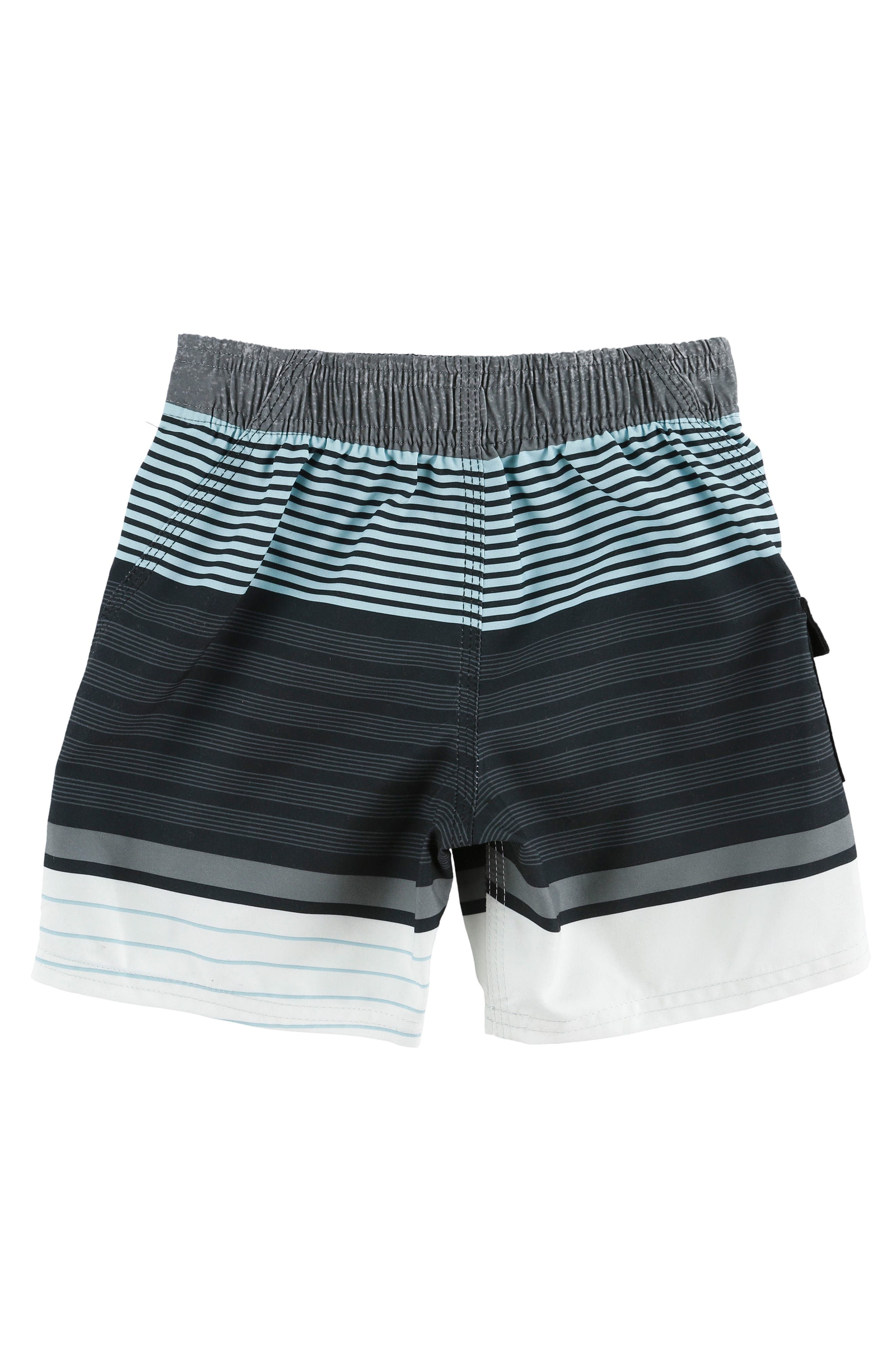 Lennox Stripe Board Shorts,                             Alternate thumbnail 2, color,                             Asphalt