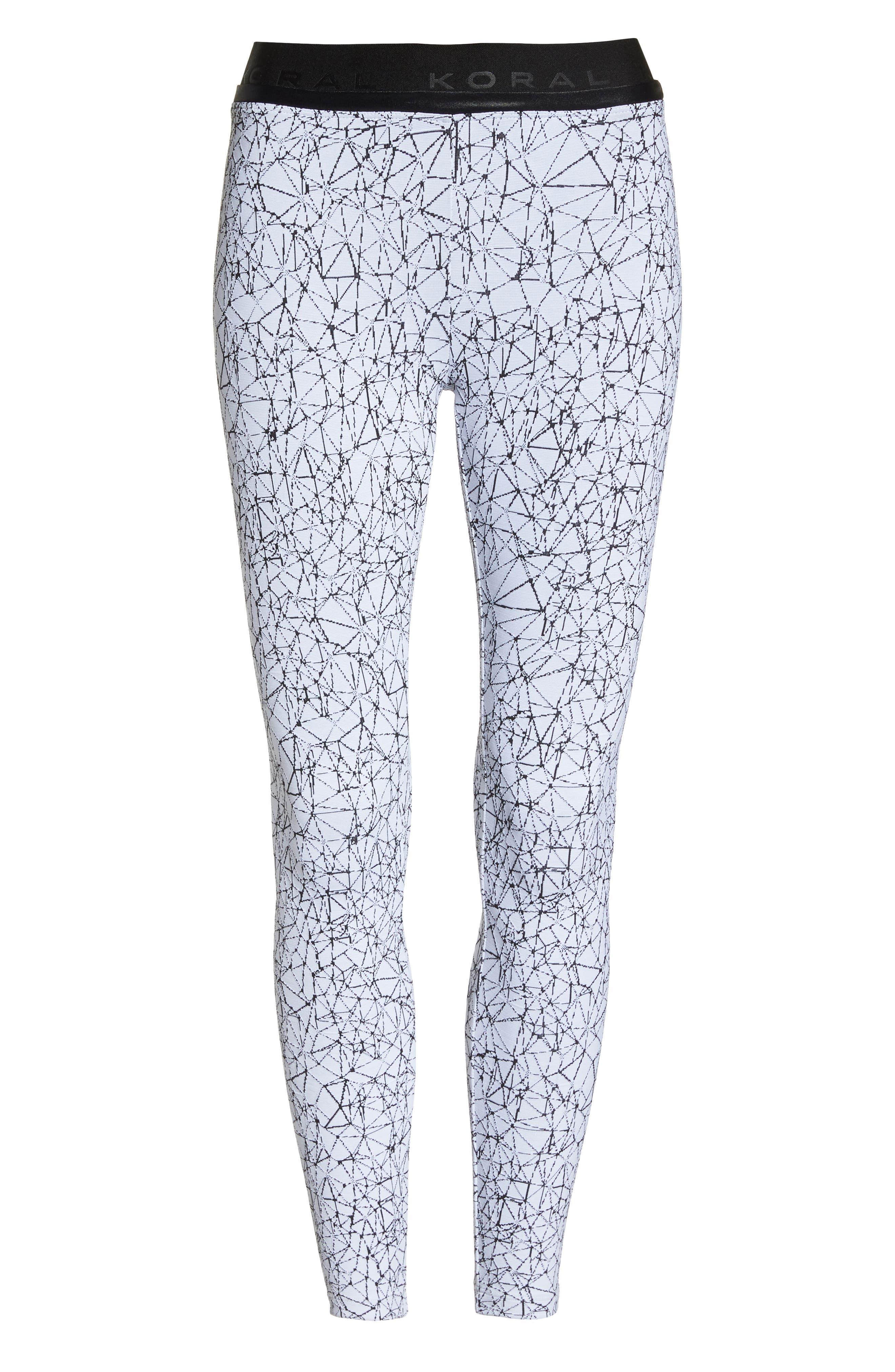 Molecular Sloane High Waist Leggings,                             Alternate thumbnail 7, color,                             Molecular White/ Black
