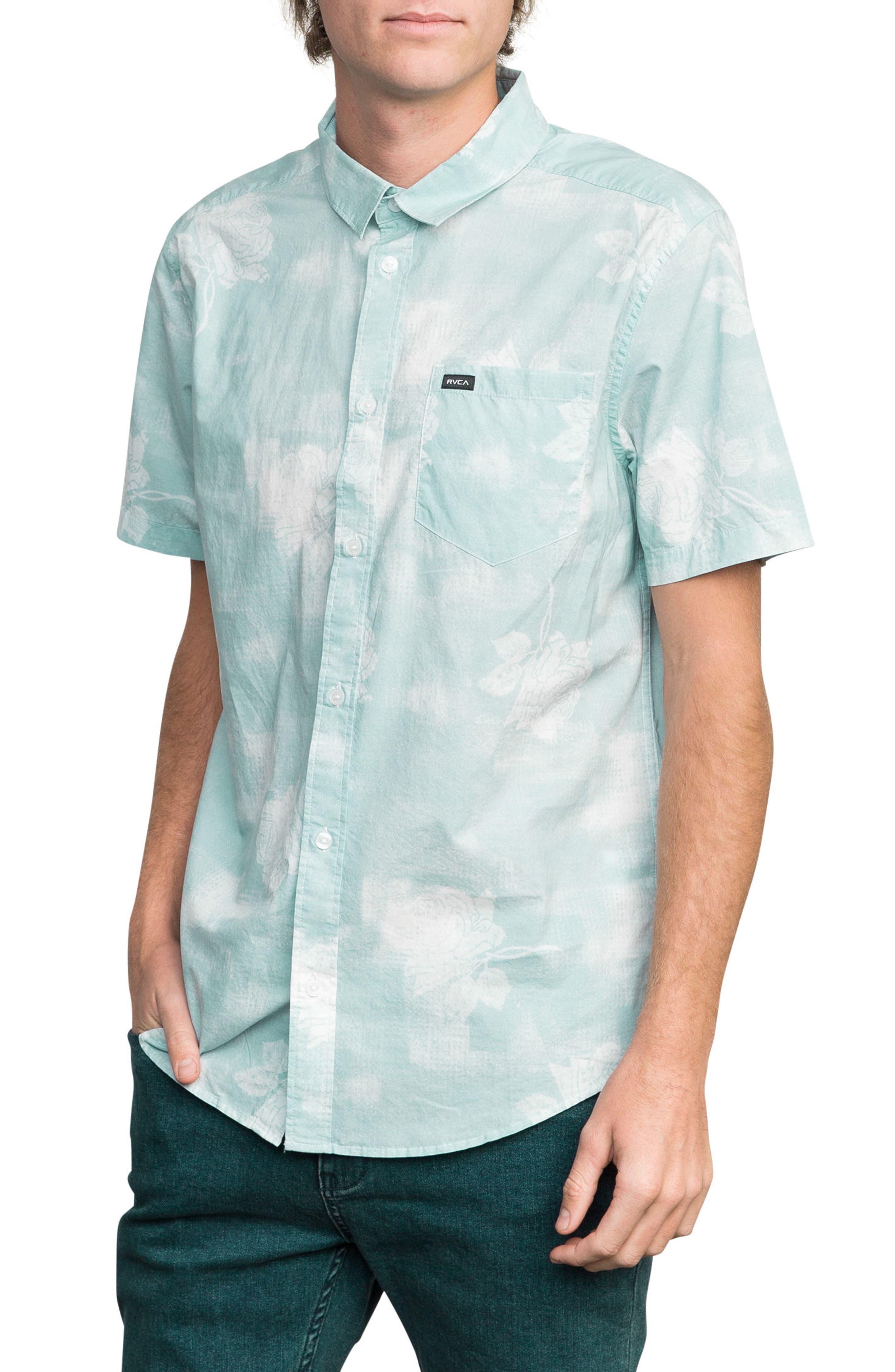 Devastator Woven Shirt,                             Alternate thumbnail 3, color,                             Blue