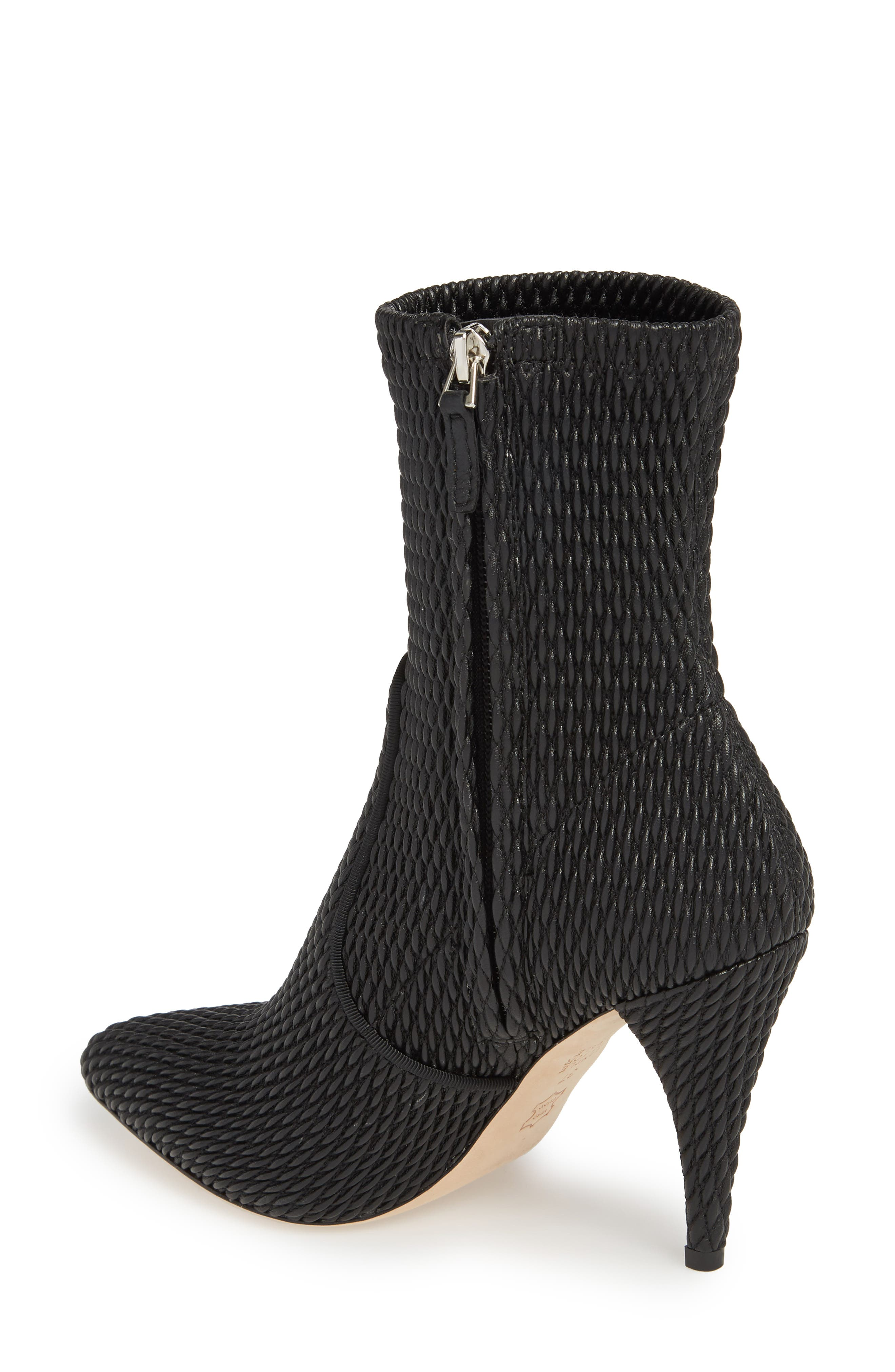 Hedde Pointy Toe Bootie,                             Alternate thumbnail 2, color,                             Black
