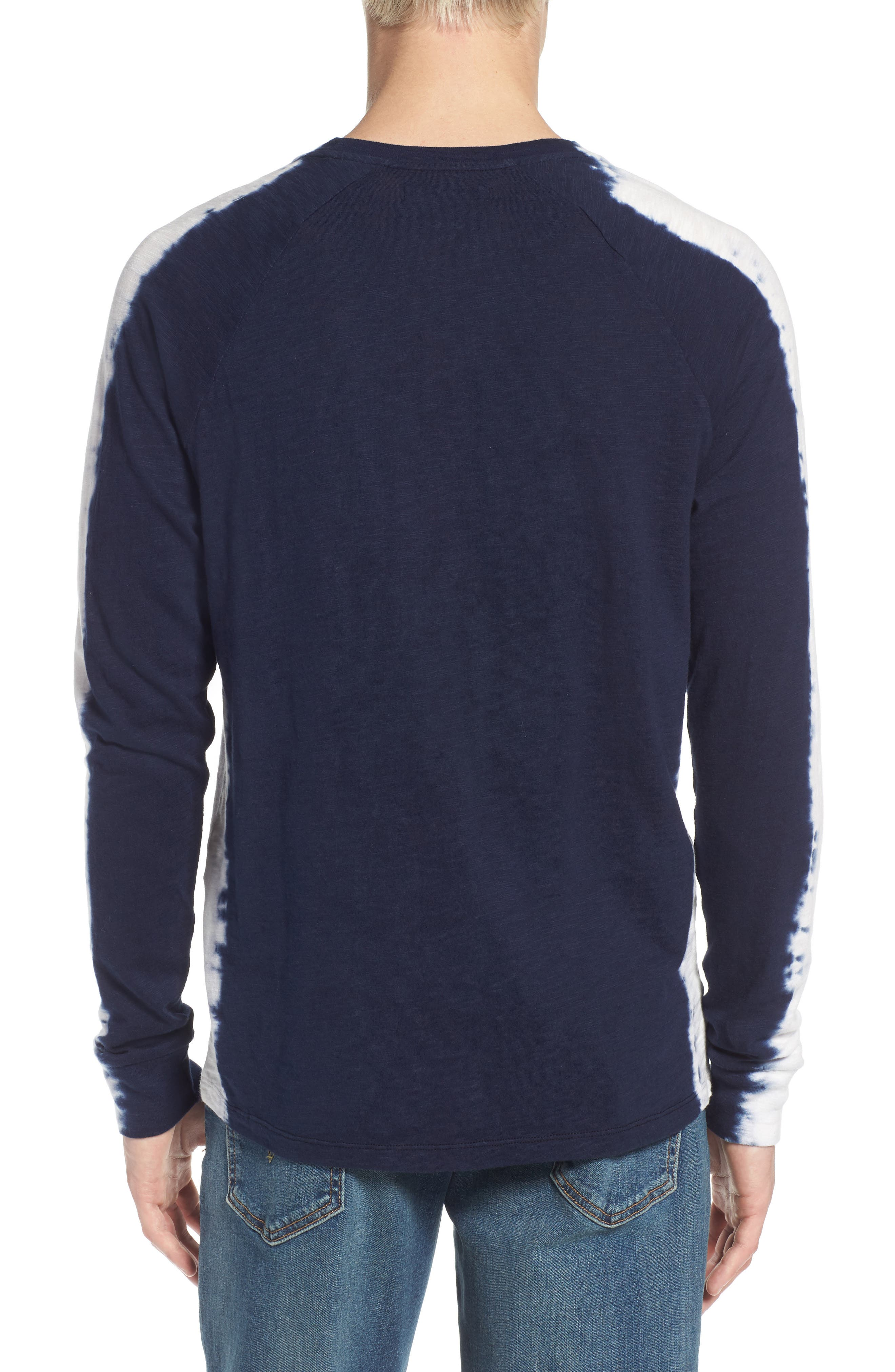Raglan T-Shirt,                             Alternate thumbnail 2, color,                             Indigo Stripe Shibori Indigo