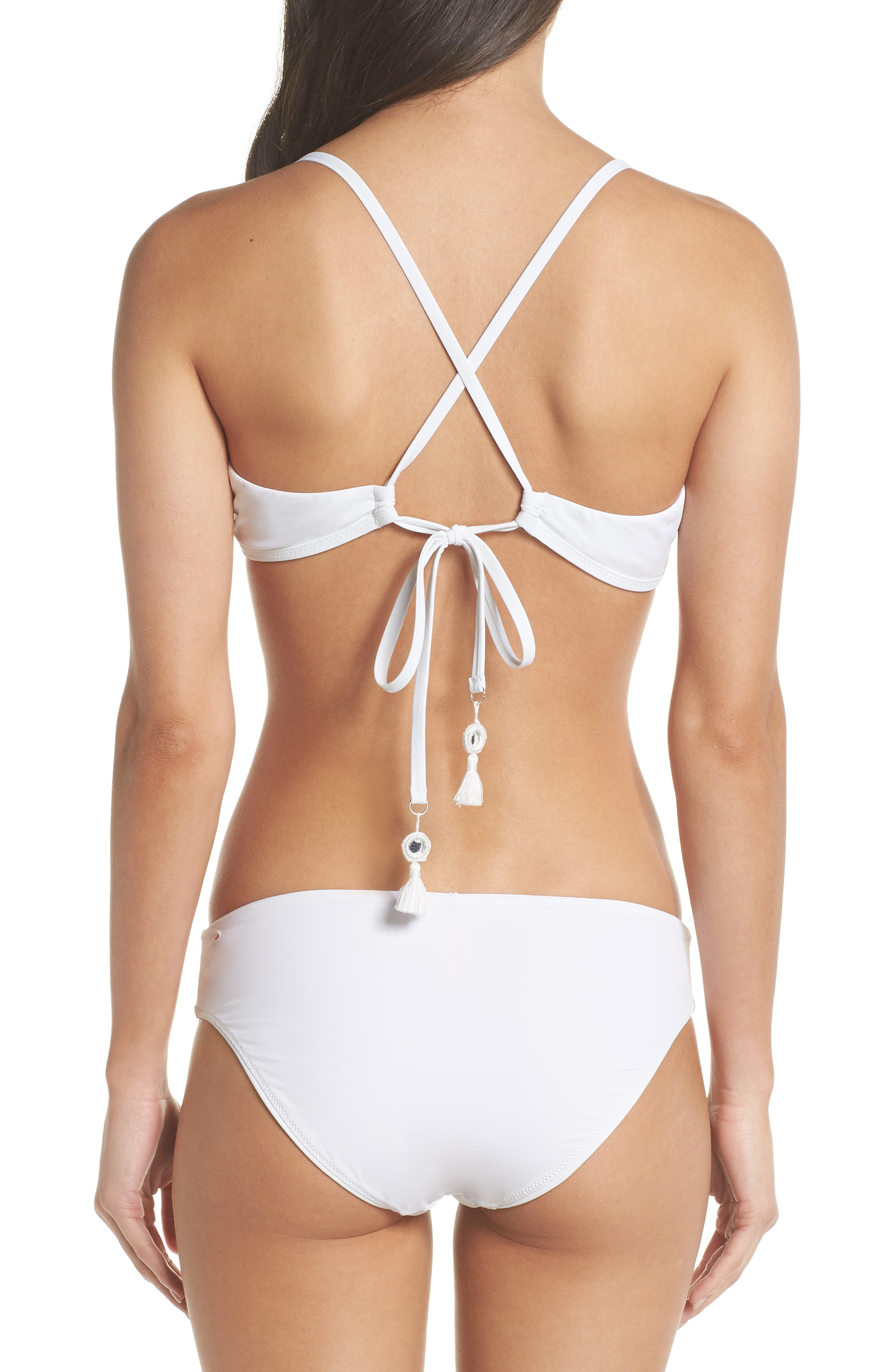 Strappy Bikini Top,                             Alternate thumbnail 5, color,                             White