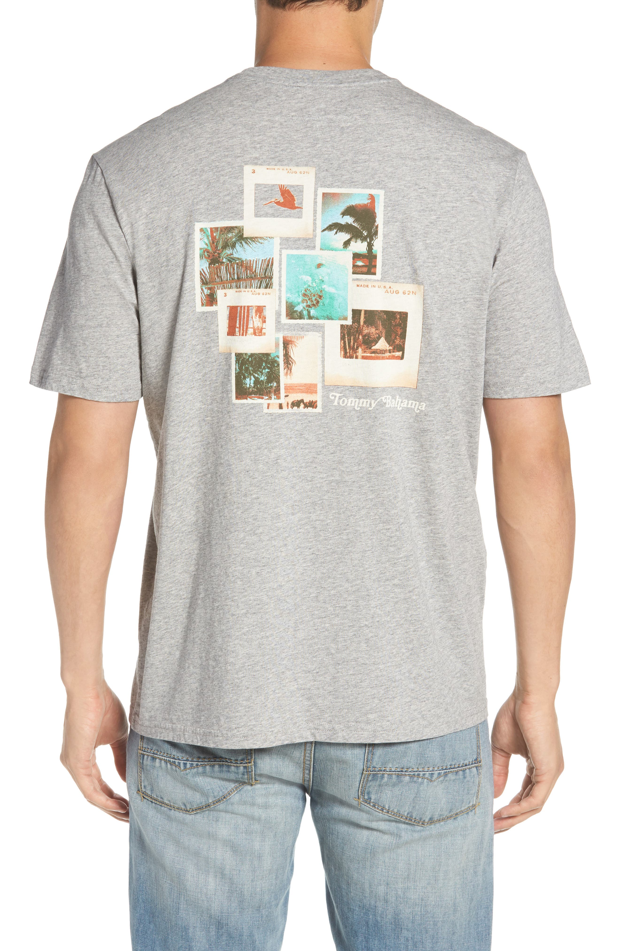 Vacation Collage T-Shirt,                             Alternate thumbnail 2, color,                             Grey Heather