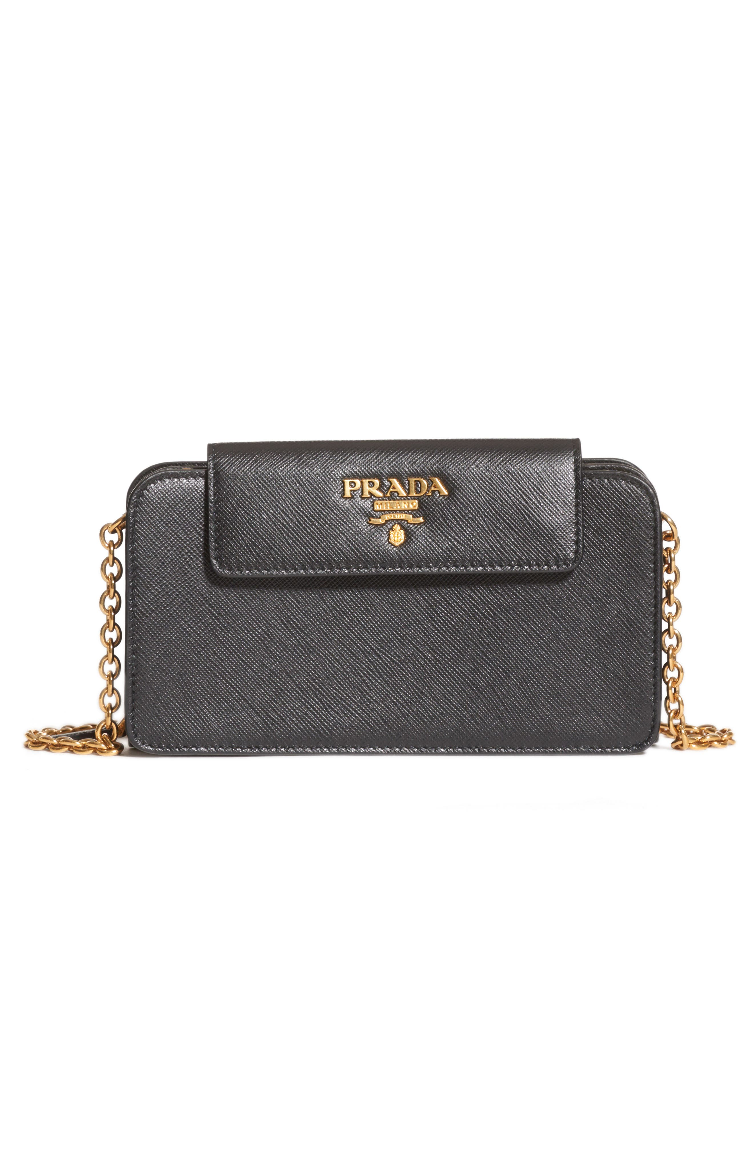 474a75d4bcb6 ... discount code for prada saffiano leather wallet on a chain 1885c ca17a