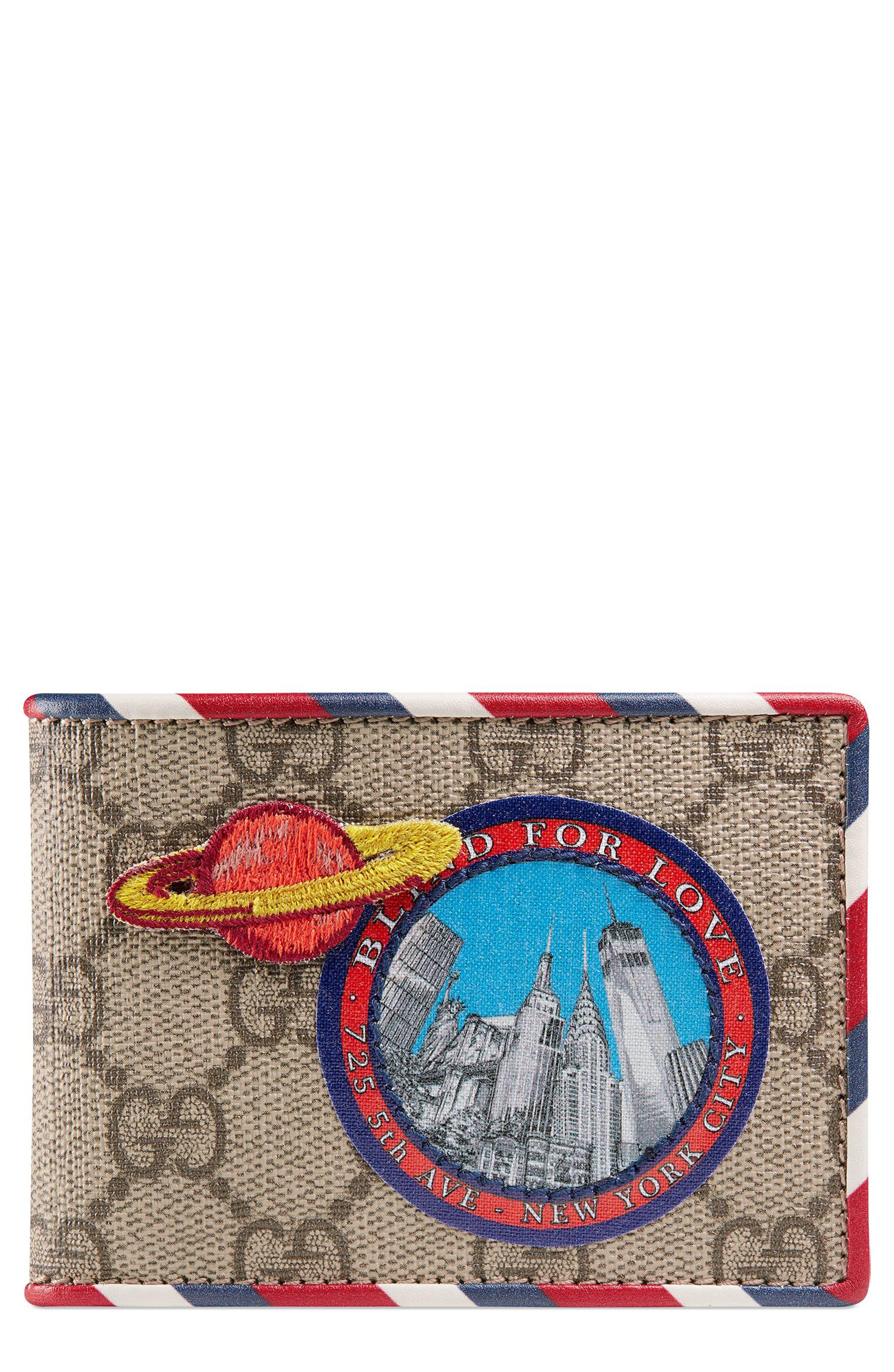Gucci GG Supreme Patch Canvas Wallet